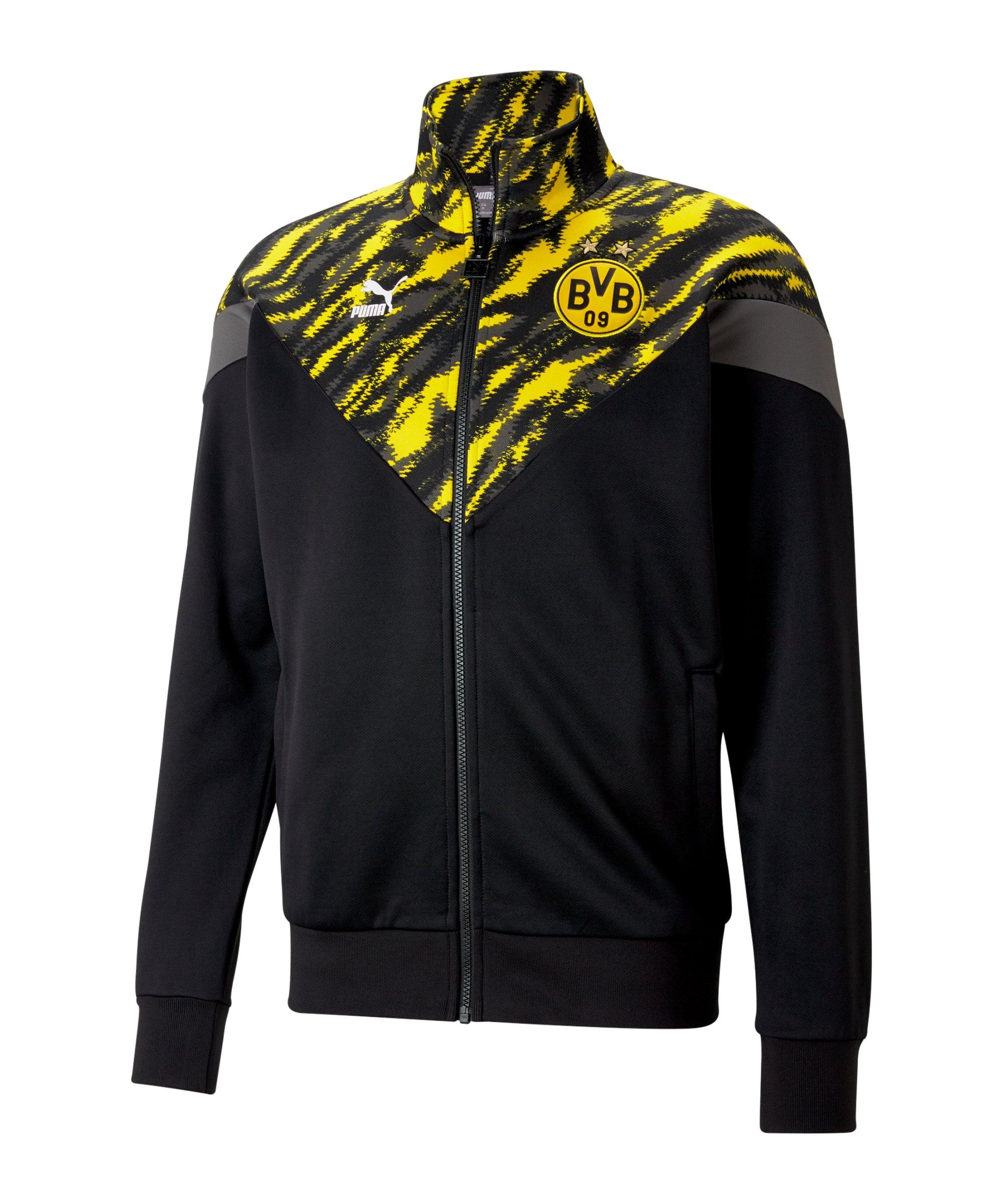 PUMA BVB Dortmund Iconic Graphic Track Jacke F01 - schwarz