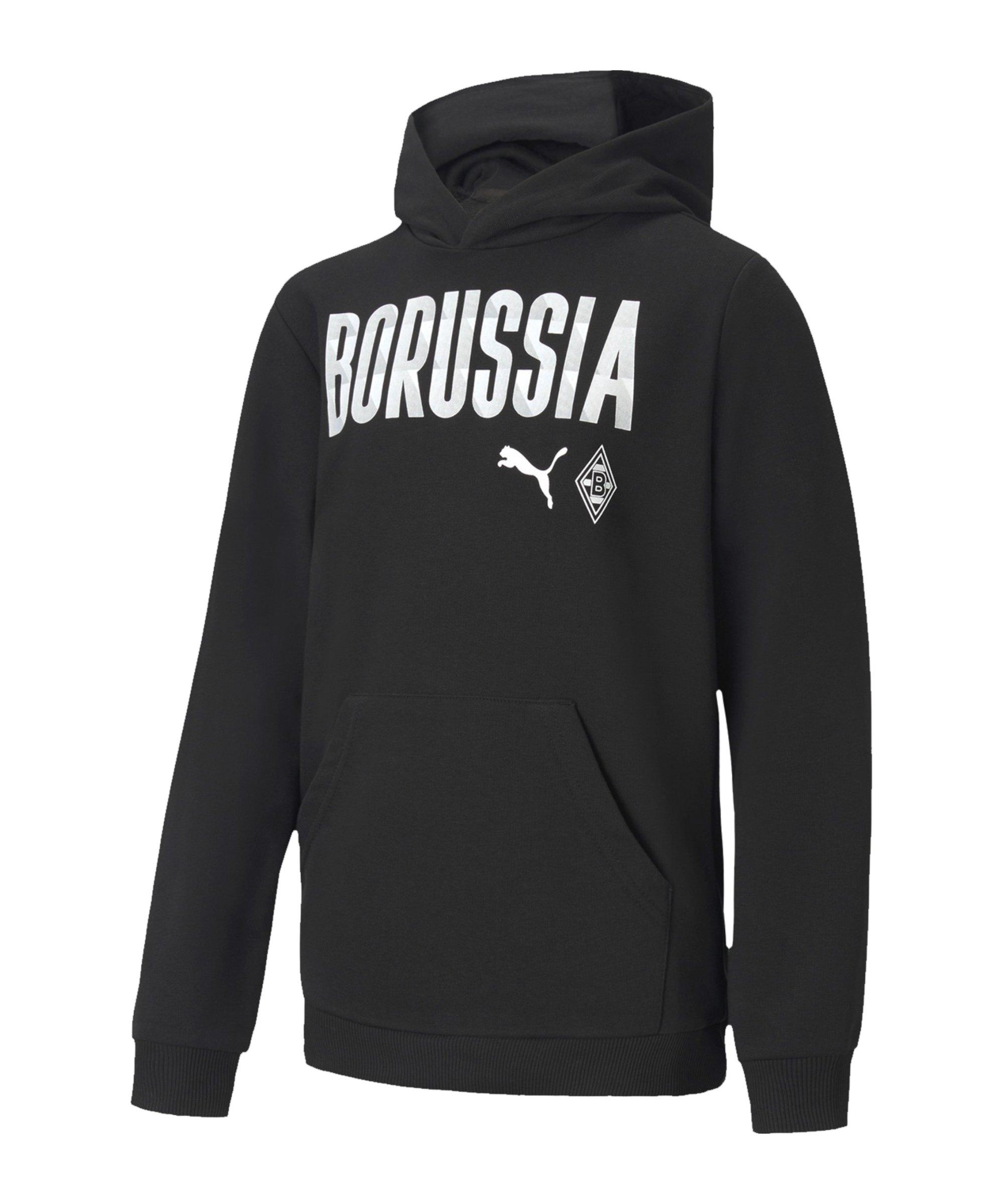 Borussia Mönchengladbach Kapuzensweatshirt Kids Schwarz F02 - schwarz