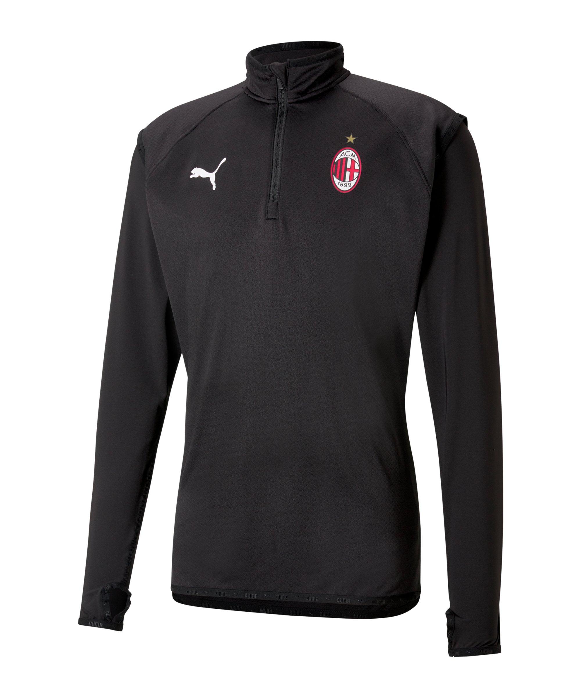 PUMA AC Mailand 1/4 Zip Top Schwarz F02 - schwarz