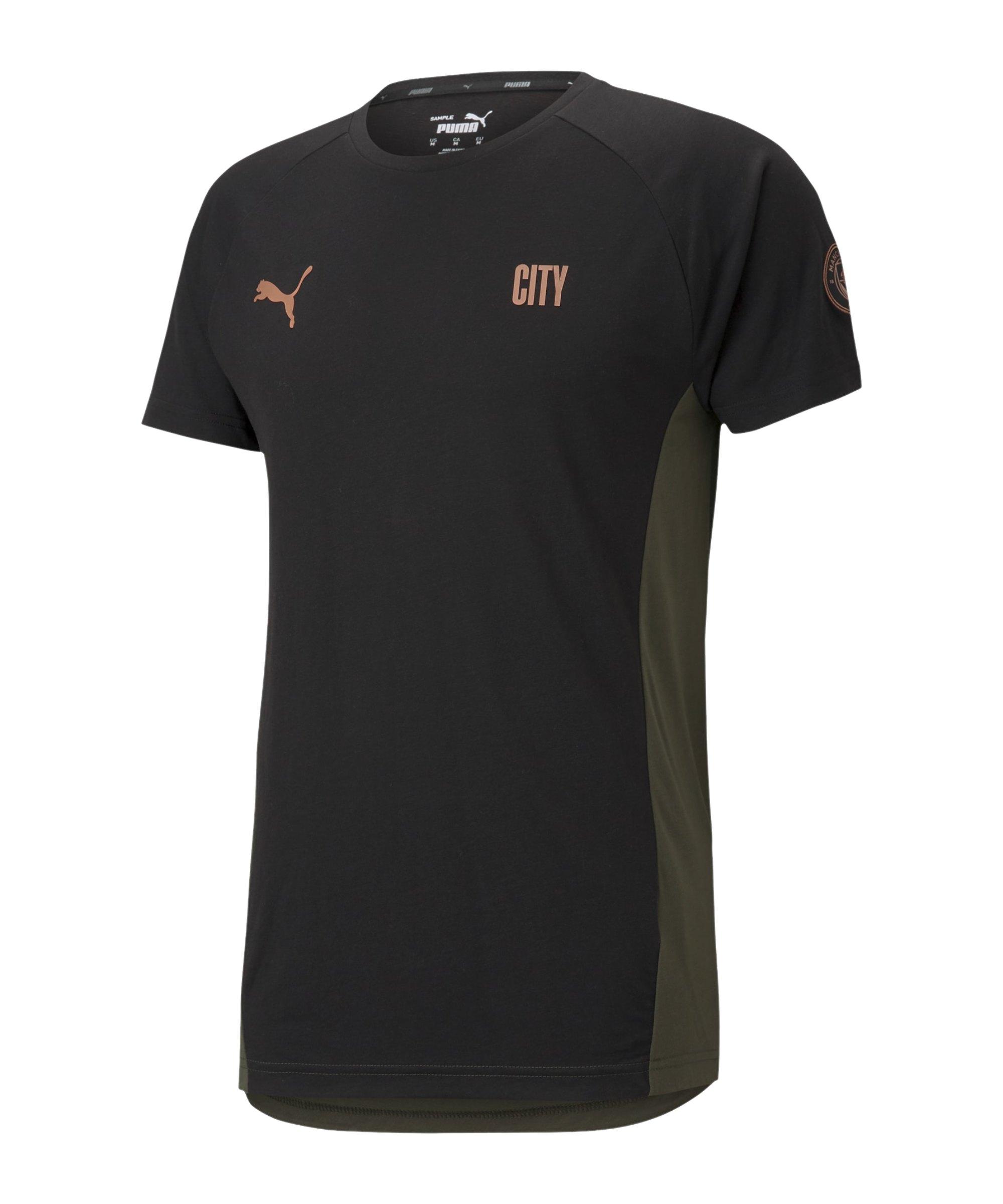 PUMA Manchester City T-Shirt Schwarz F04 - schwarz