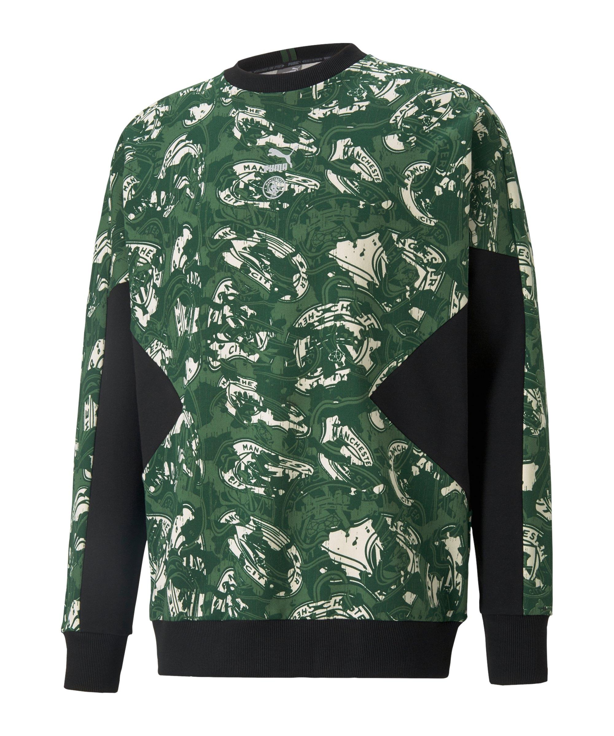 PUMA Manchester City TFS Sweatshirt Grün Schwarz F10 - gruen