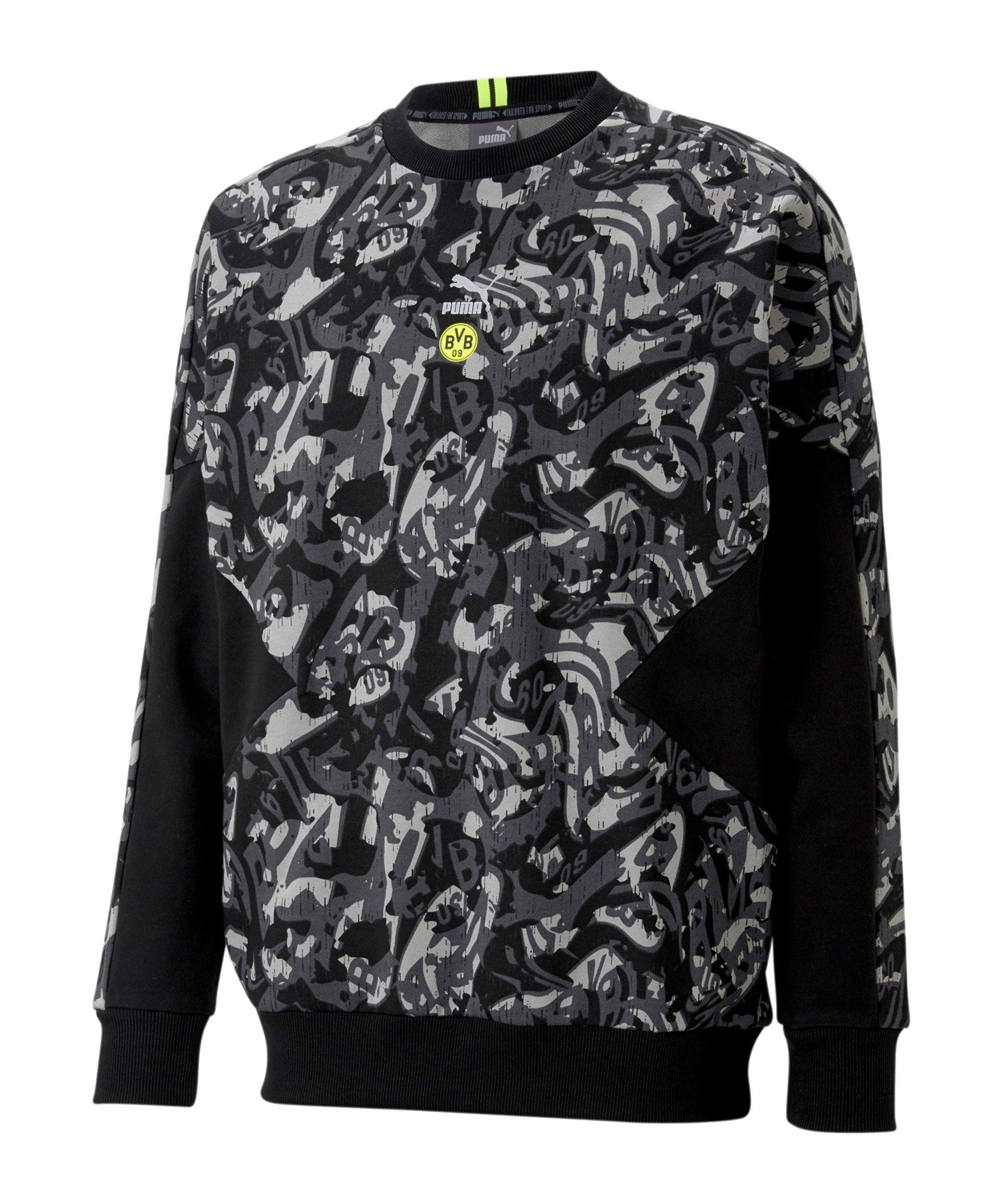 PUMA BVB Dortmund TFS Sweatshirt Schwarz F20 - schwarz