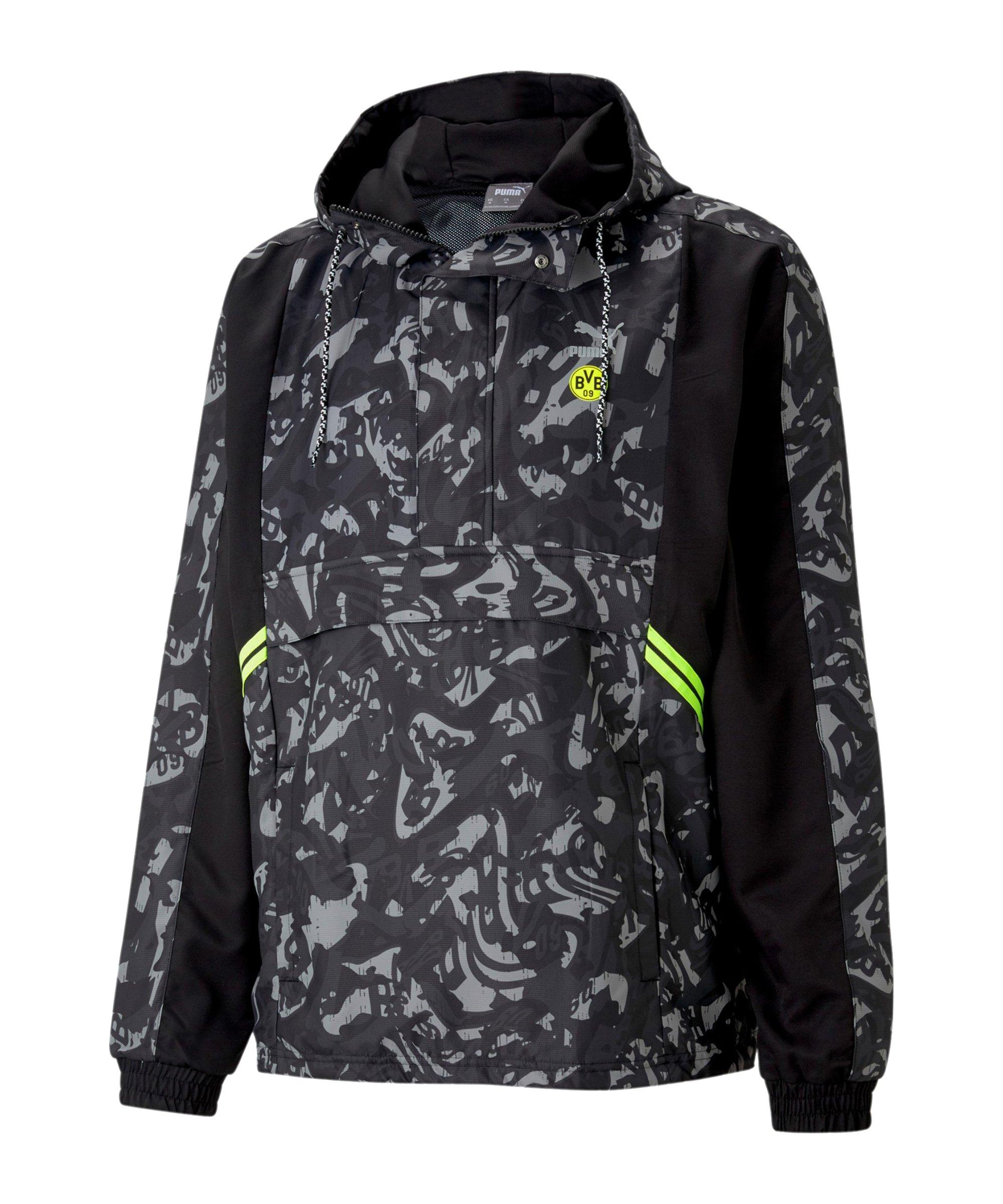 PUMA BVB Dortmund TFS HalfZip Sweatshirt Schwarz F20 - schwarz