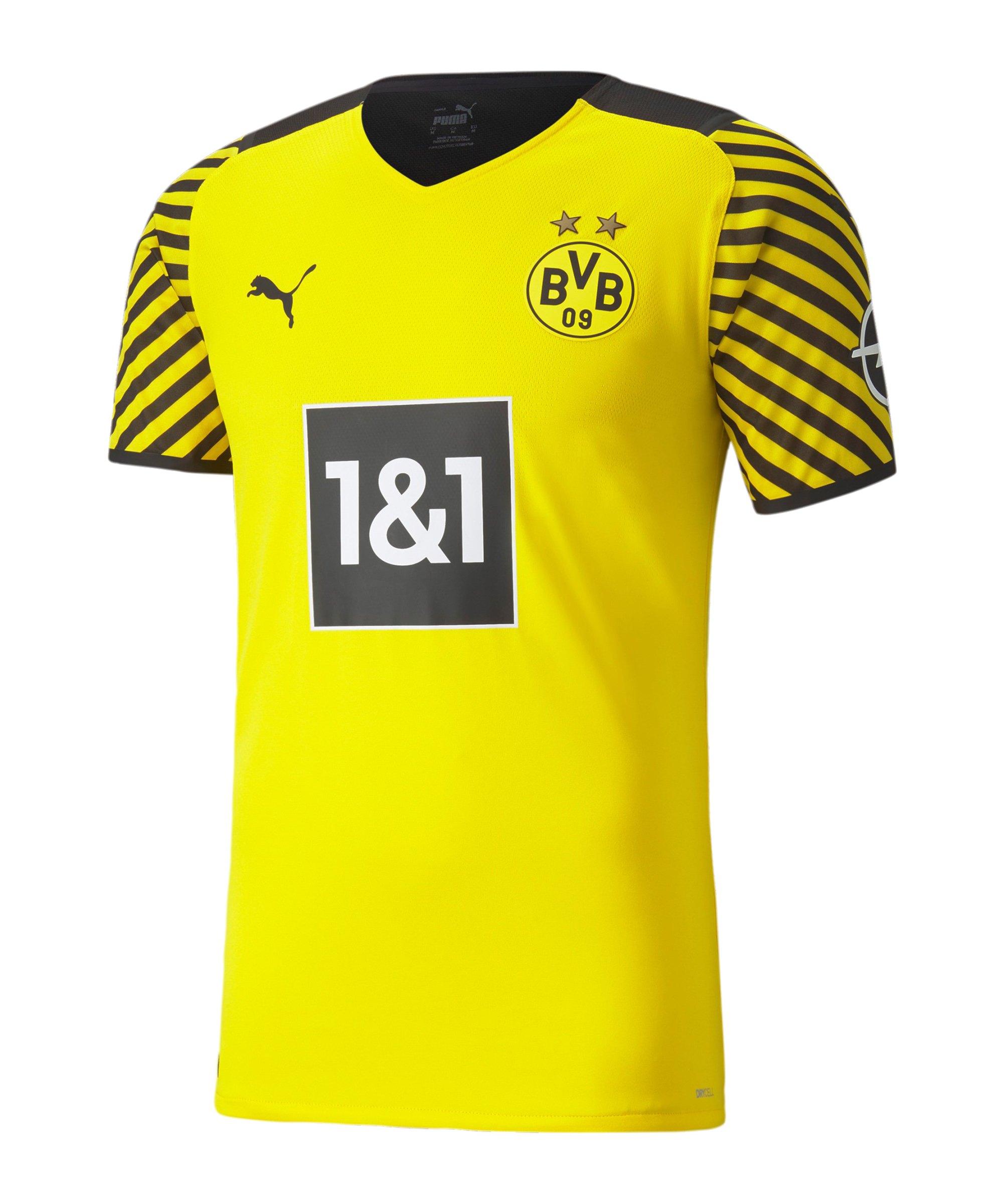 PUMA BVB Dortmund Auth.Trikot Home 2021/2022 Gelb Schwarz F01 - gelb