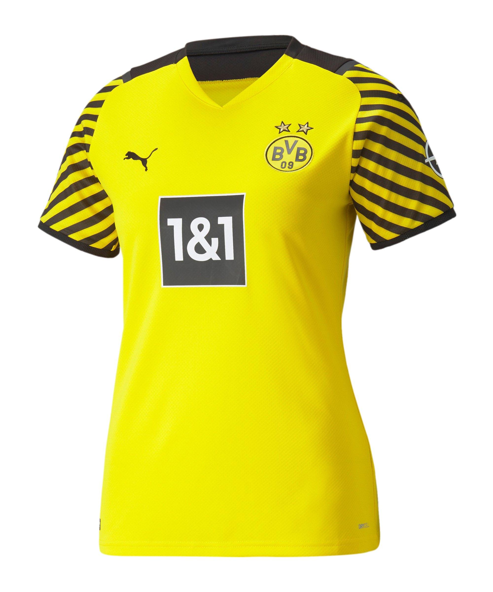 PUMA BVB Dortmund Trikot Home 2021/2022 Damen Gelb F01 - gelb