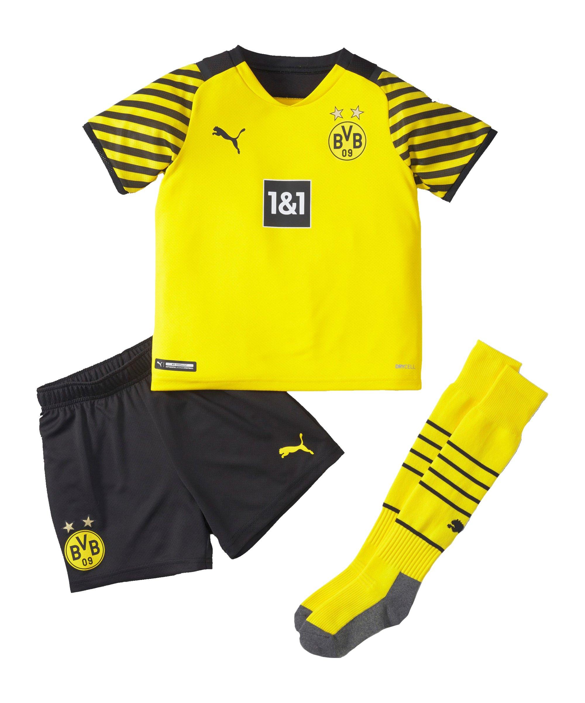 PUMA BVB Dortmund Minikit Home 2021/2022 Gelb Schwarz F01 - gelb