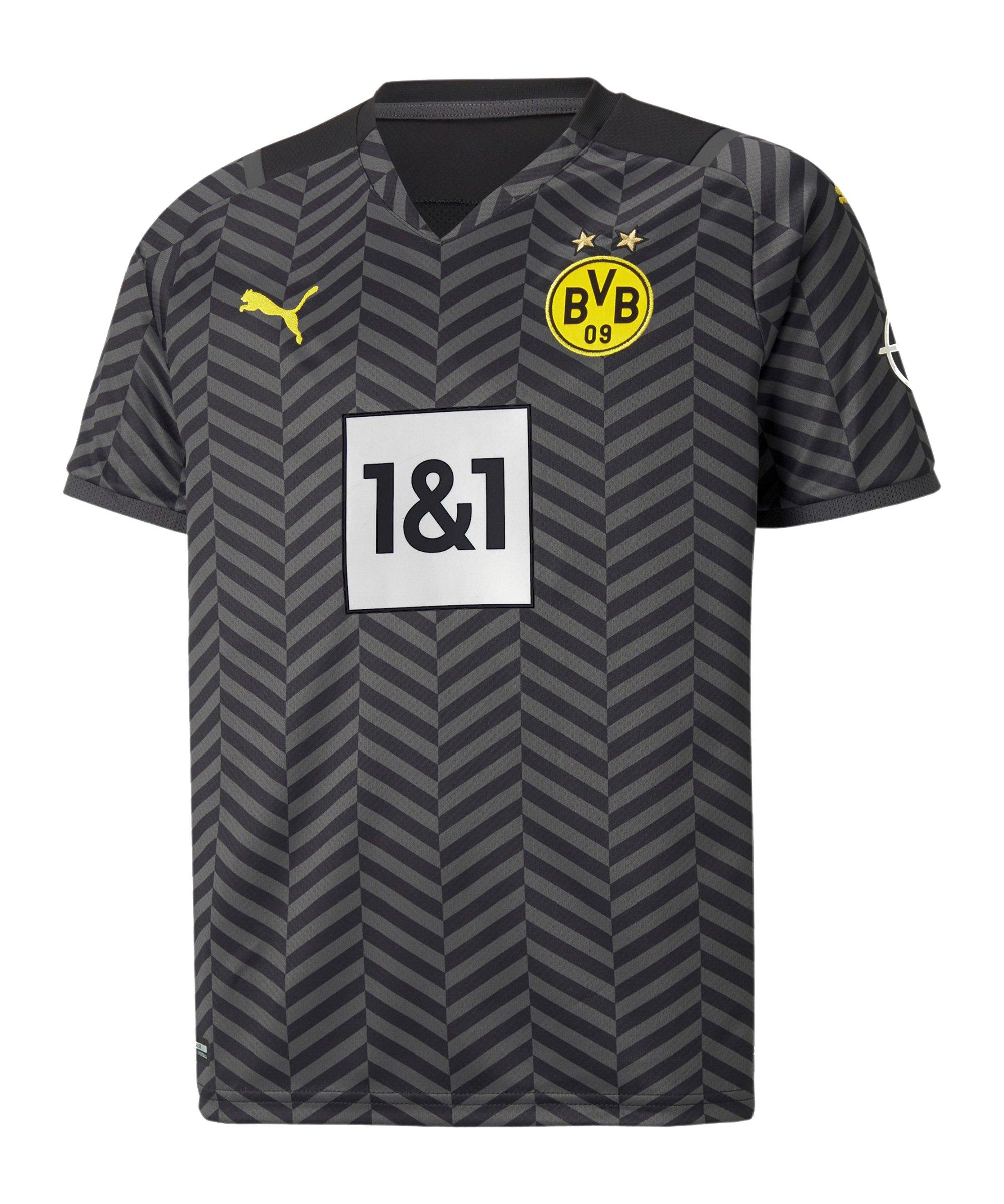 PUMA BVB Dortmund Trikot Away 2021/2022 Kids Grau F04 - grau