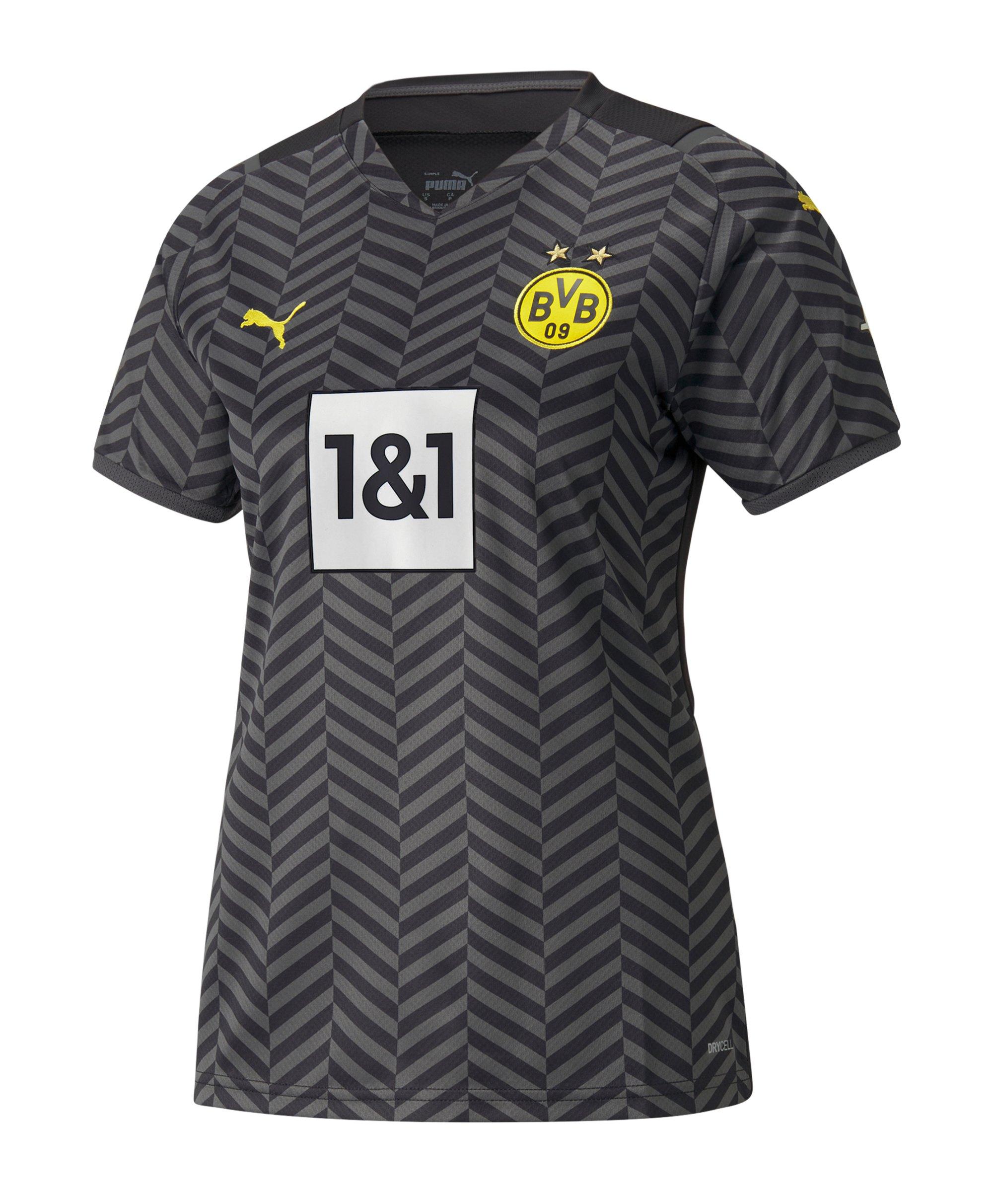 PUMA BVB Dortmund Trikot Away 2021/2022 Damen Grau F04 - grau