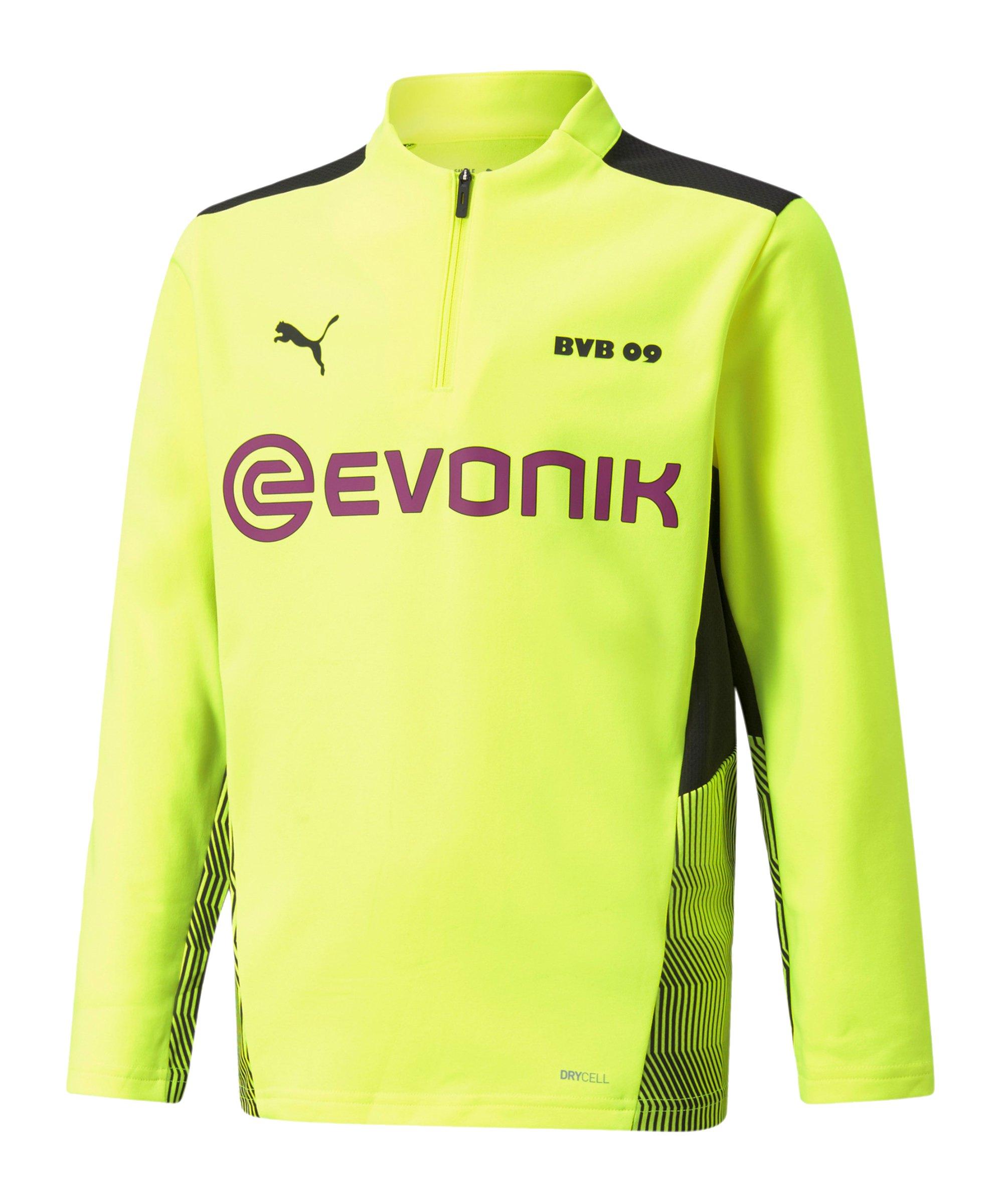 PUMA BVB Dortmund Training 1/4 Ziptop Kids F03 - gelb