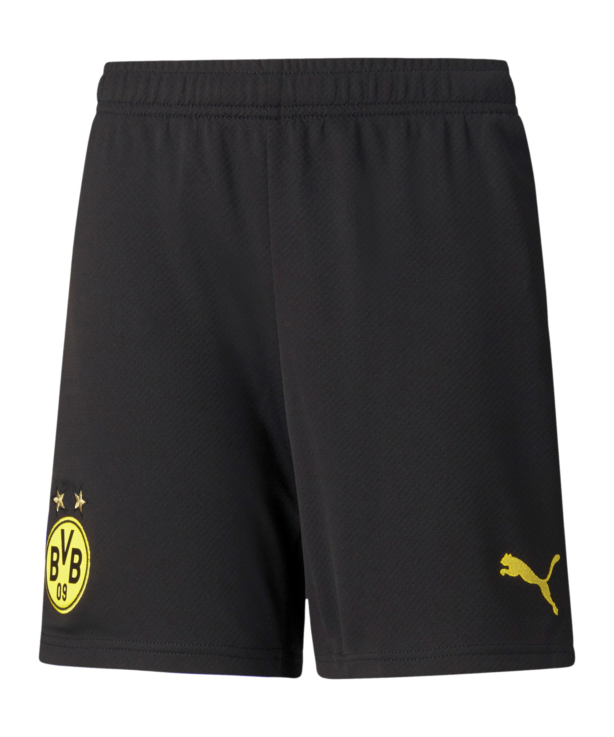 PUMA BVB Dortmund Short Home 2021/2022 Schwarz Gelb F02 - schwarz