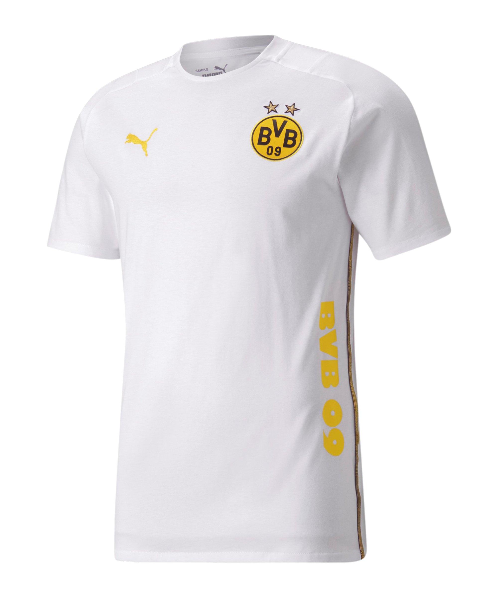 PUMA BVB Dortmund Casuals T-Shirt Weiss F08 - weiss