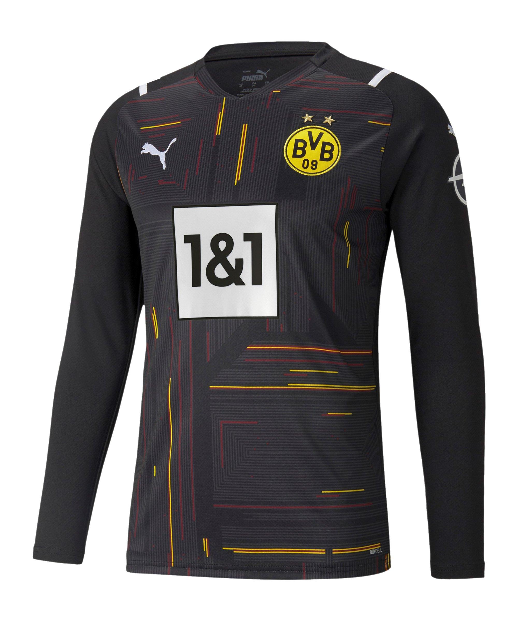 PUMA BVB Dortmund Torwarttrikot 2021/2022 Schwarz Weiss F49 - schwarz