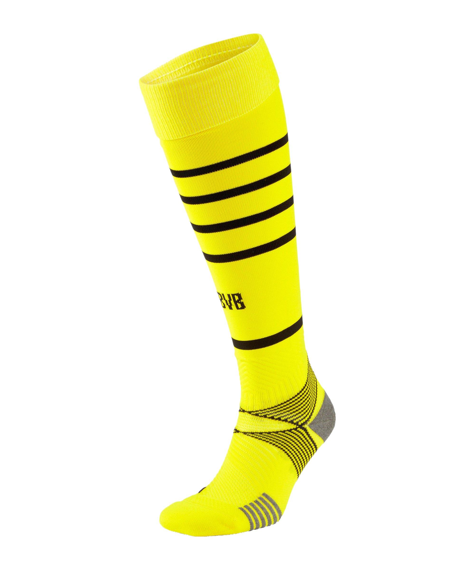 PUMA BVB Dortmund Stutzen Home 2021/2022 Gelb Schwarz F01 - gelb