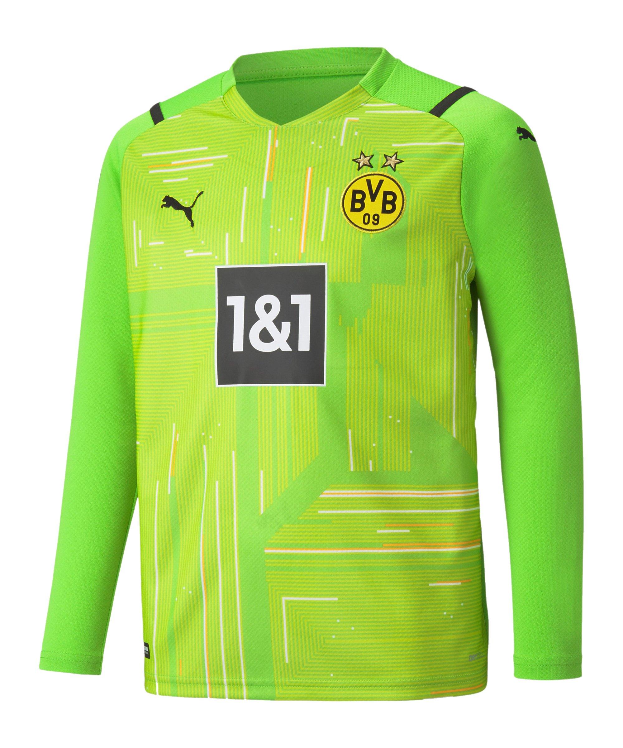 PUMA BVB Dortmund Torwarttrikot 2021/2022 Kids Grün F51 - gruen