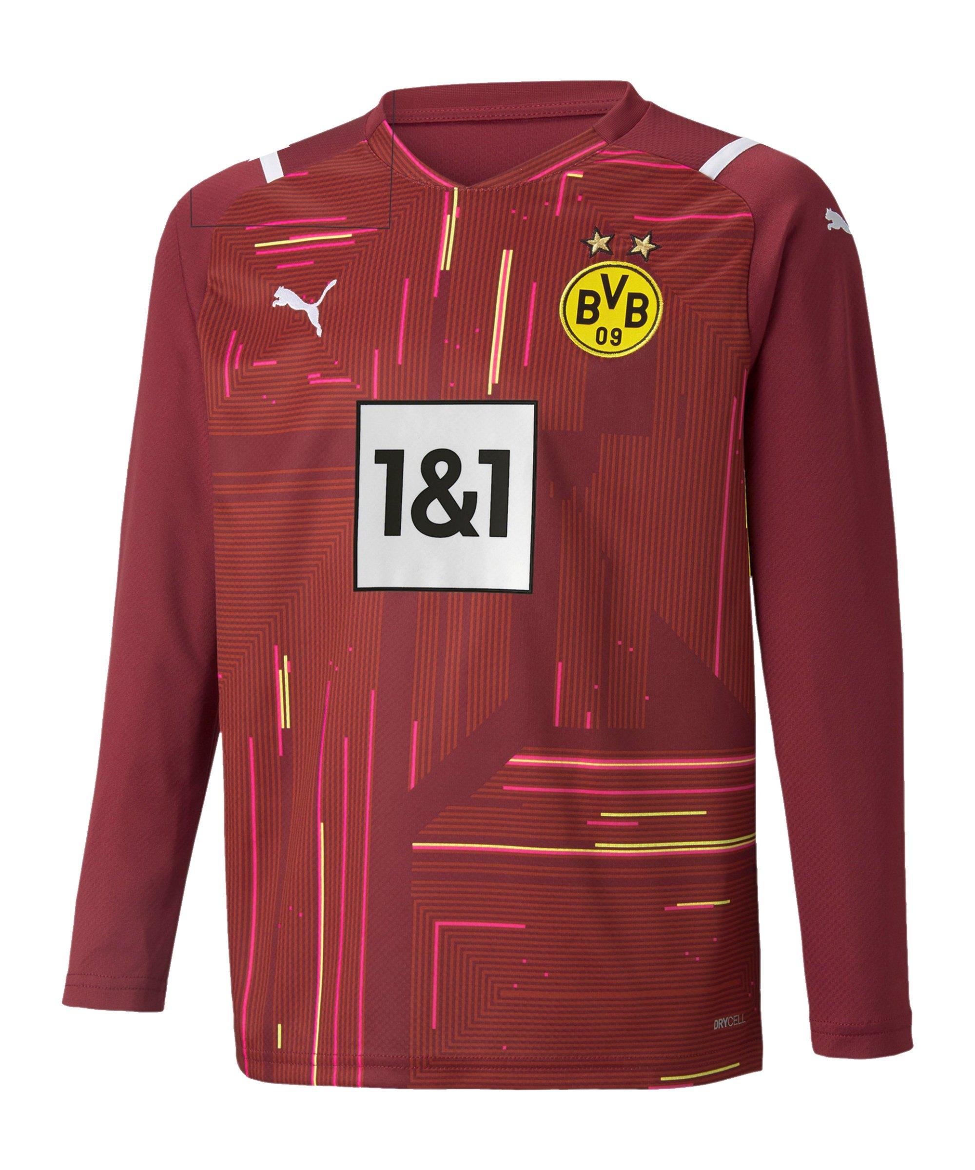 PUMA BVB Dortmund Torwarttrikot 2021/2022 Kids Rot F48 - rot