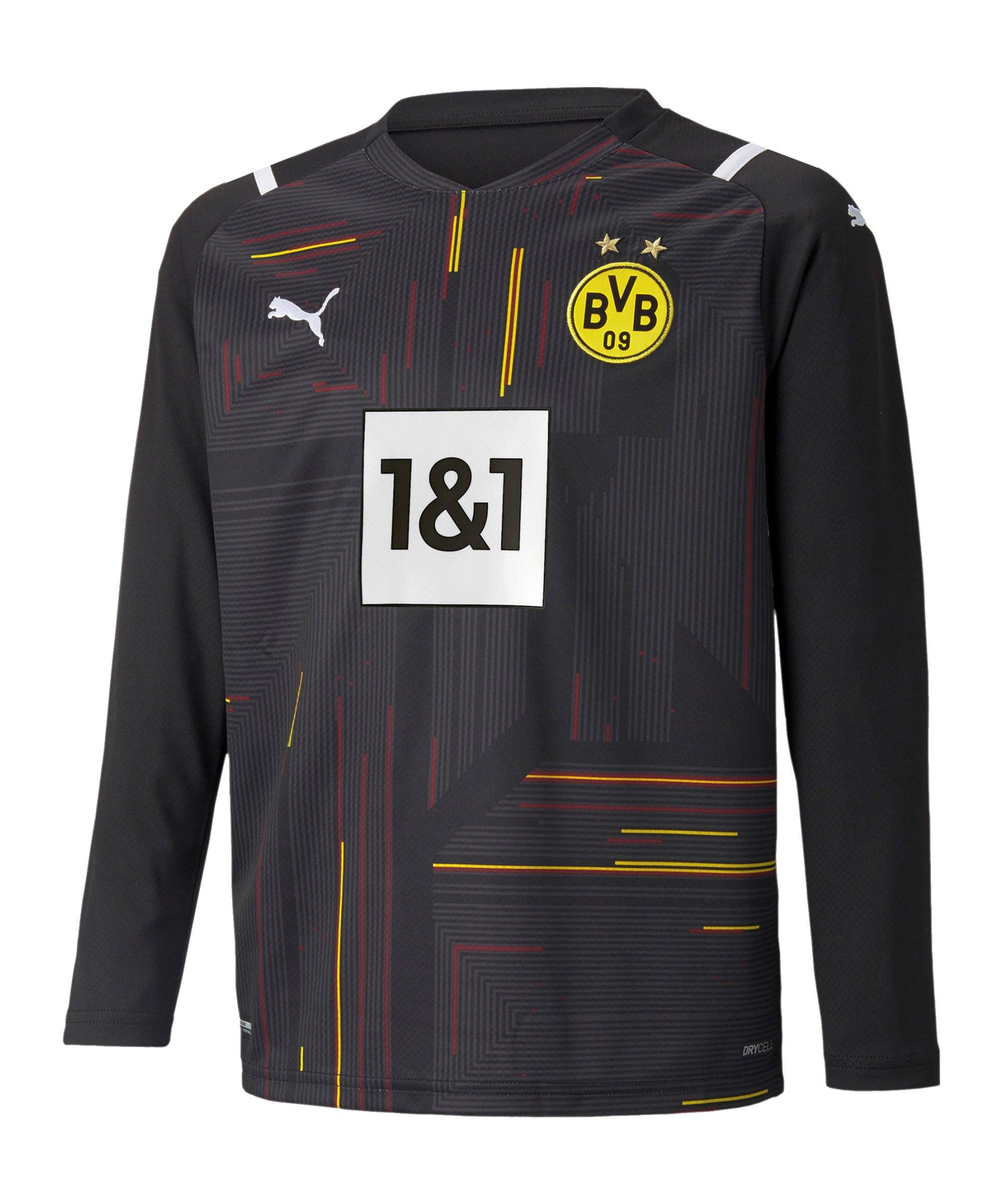 PUMA BVB Dortmund Torwarttrikot 2021/2022 Kids Schwarz Weiss F49 - schwarz