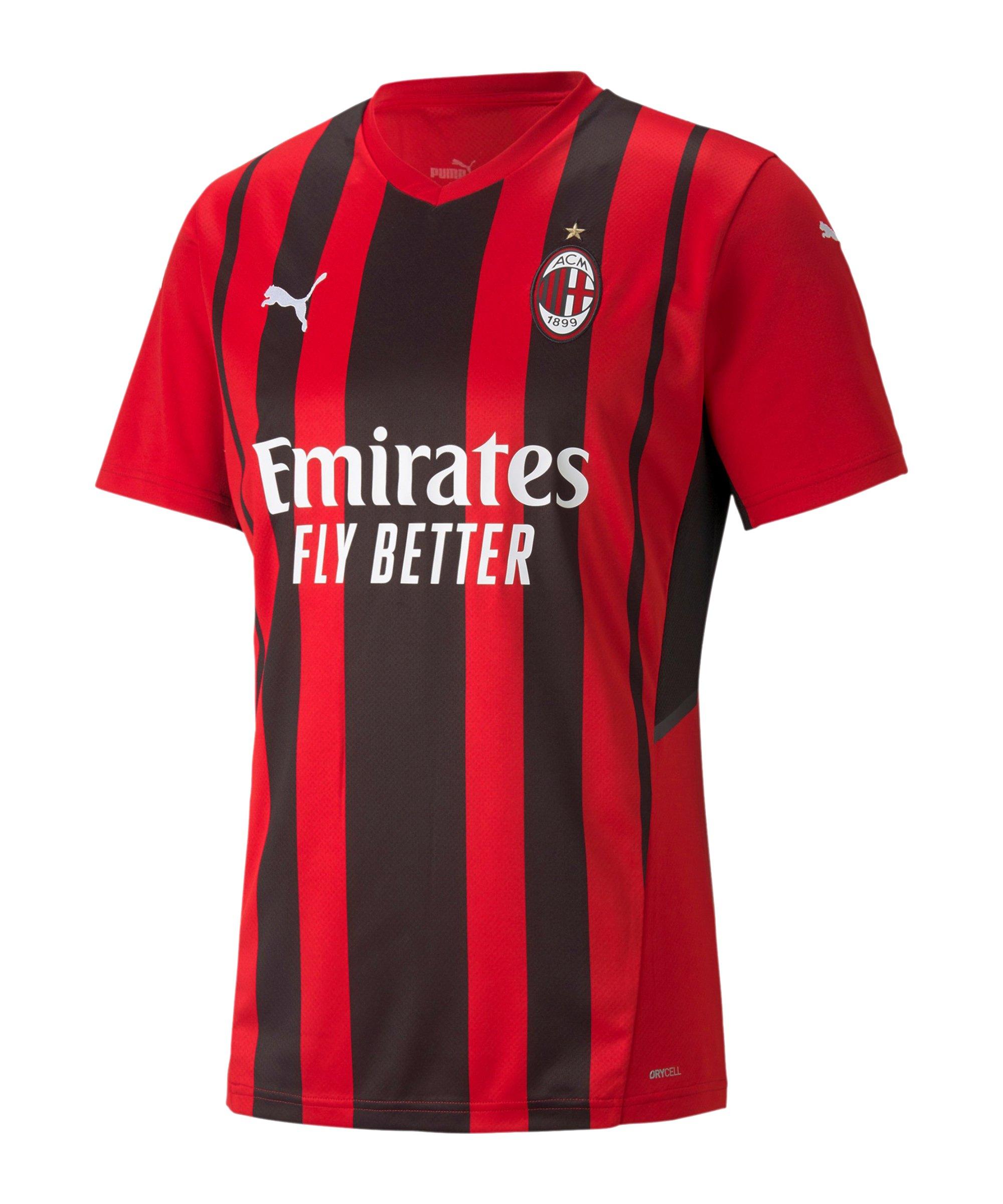 PUMA AC Mailand Trikot Home 2021/2022 Rot F01 - rot