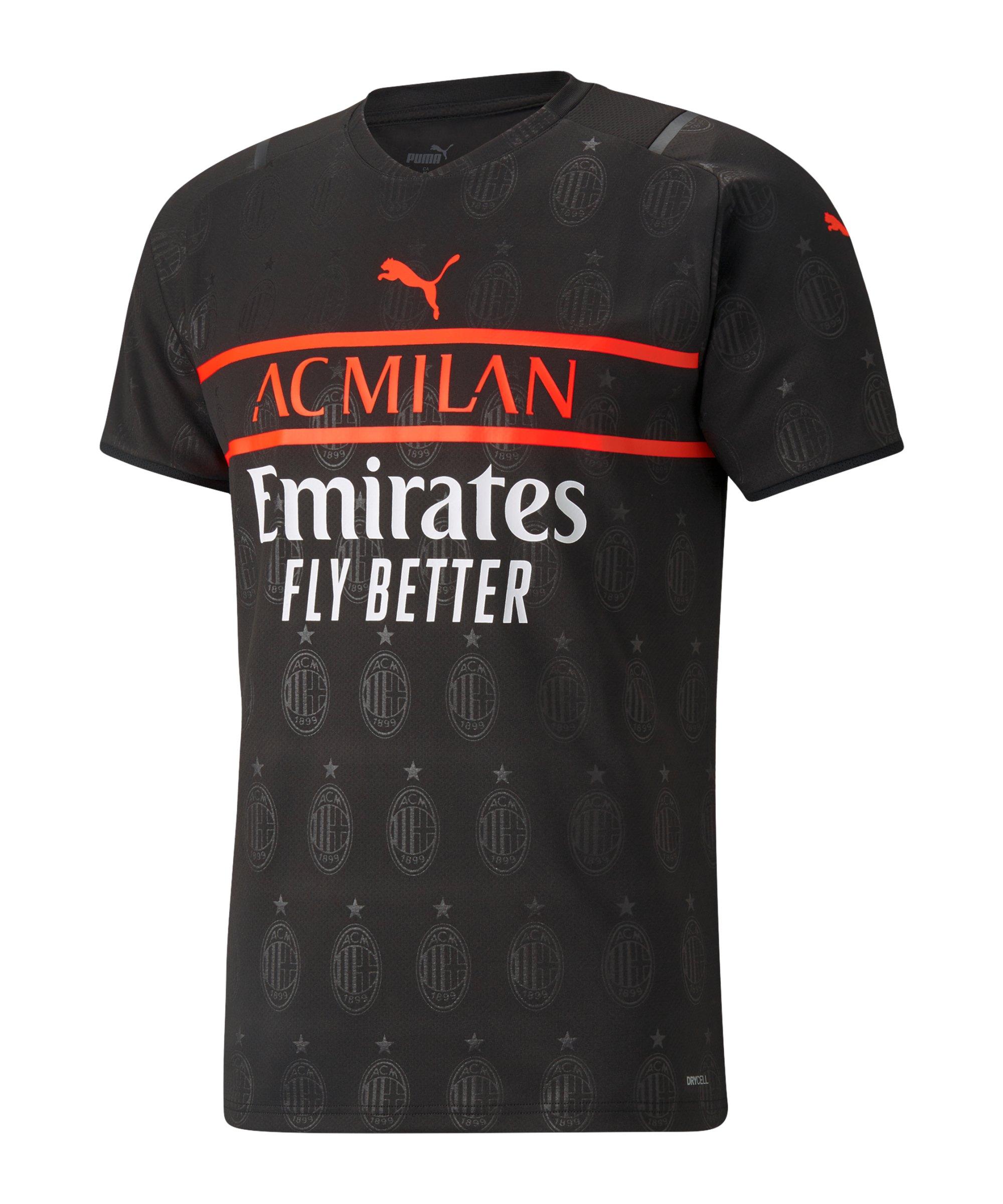 PUMA AC Mailand Trikot UCL 2021/2022 Schwarz F03 - schwarz