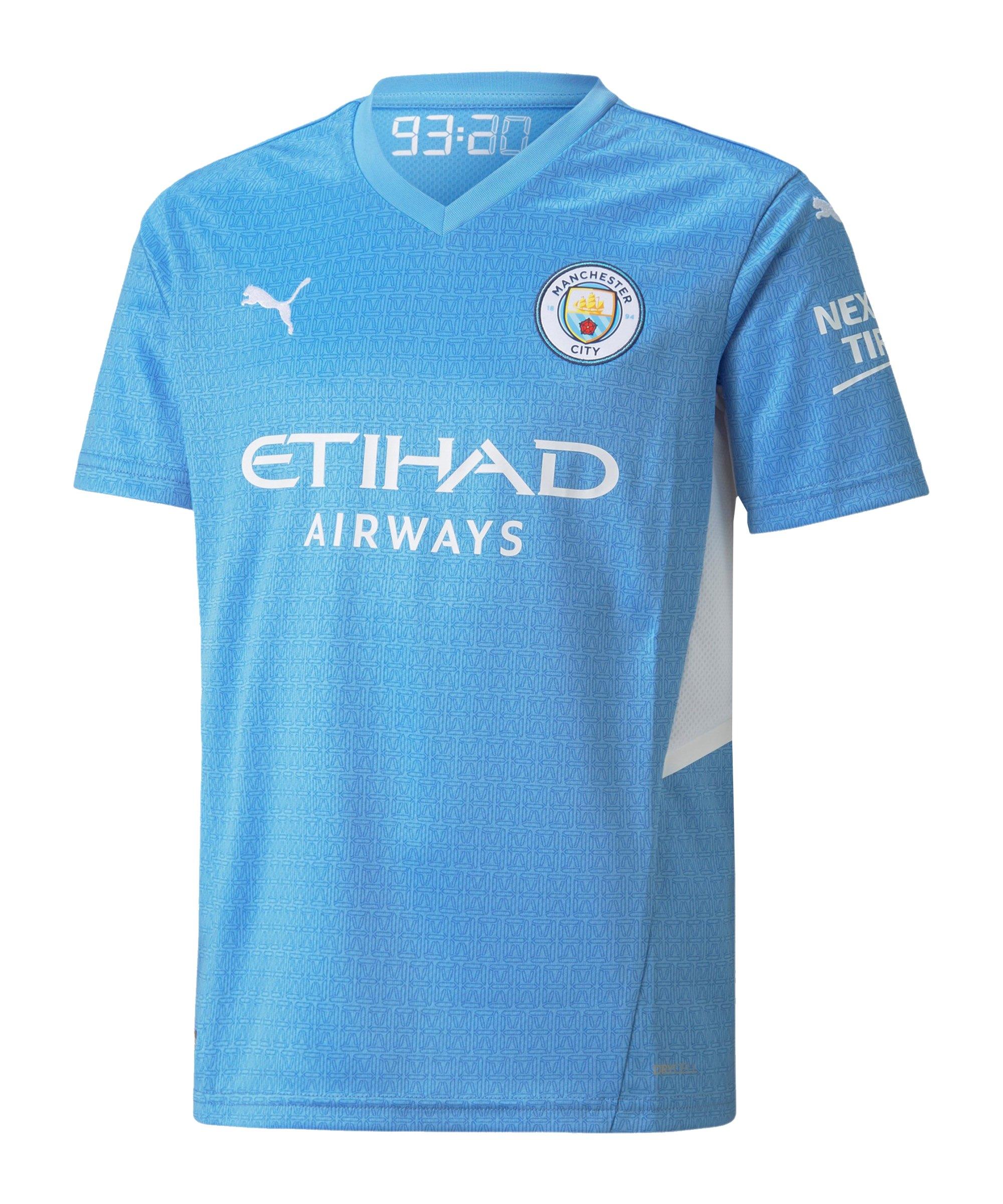 PUMA Manchester City Trikot Home 2021/2022 Kids Blau F01 - blau