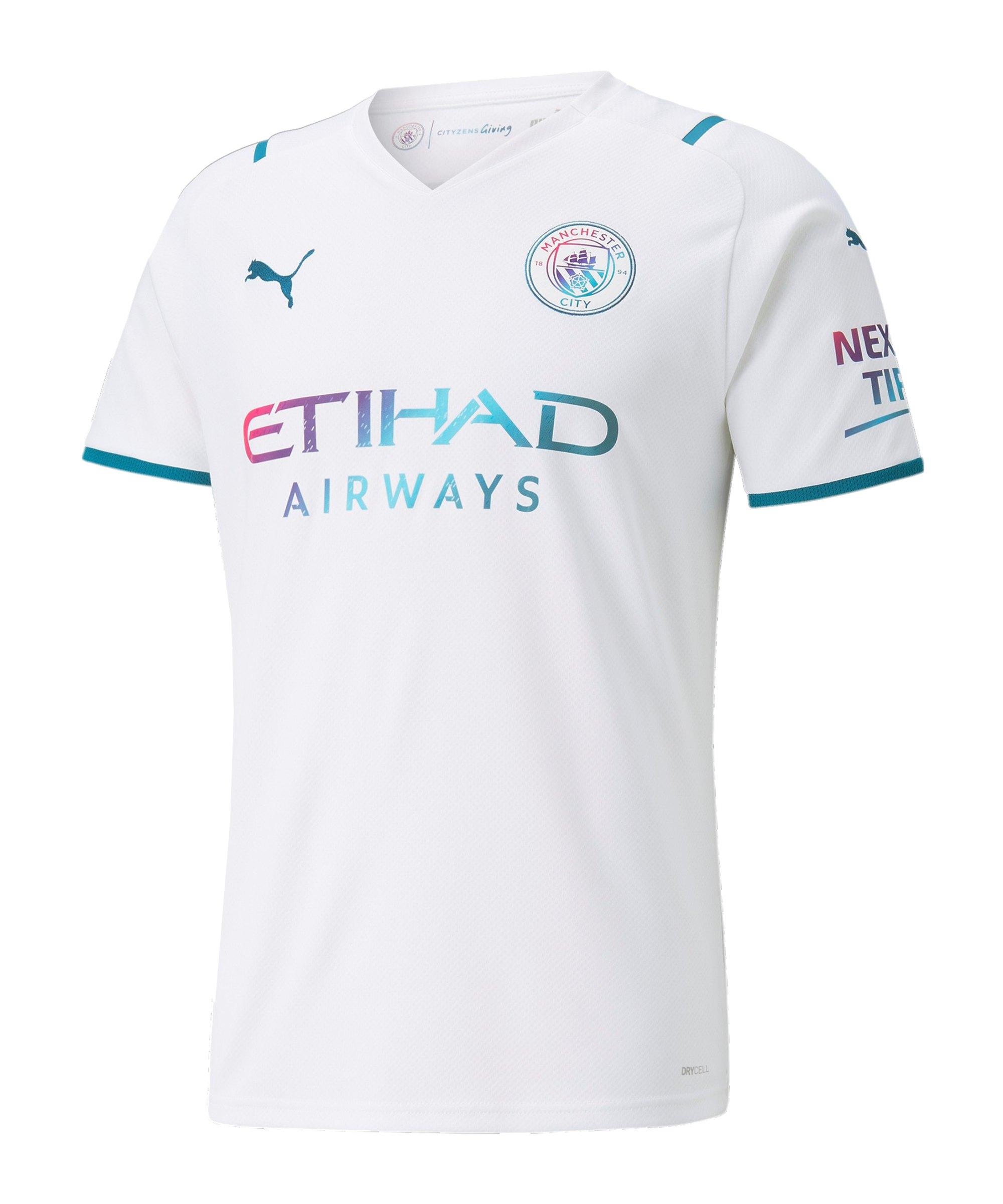 PUMA Manchester City Trikot Away 2021/2022 Weiss F02 - weiss