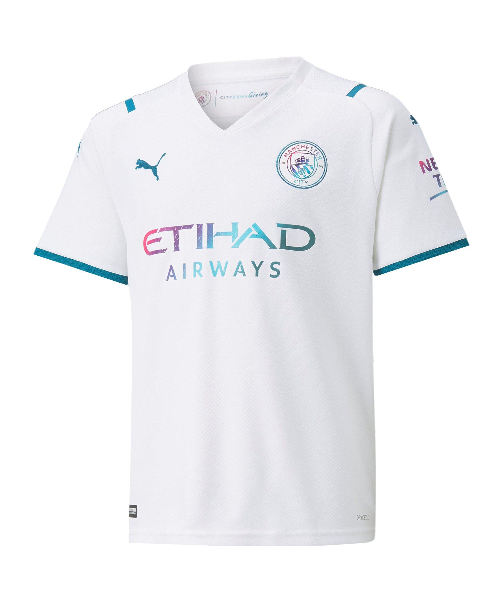 PUMA Manchester City Trikot Away 2021/2022 Kids Weiss F02 - weiss