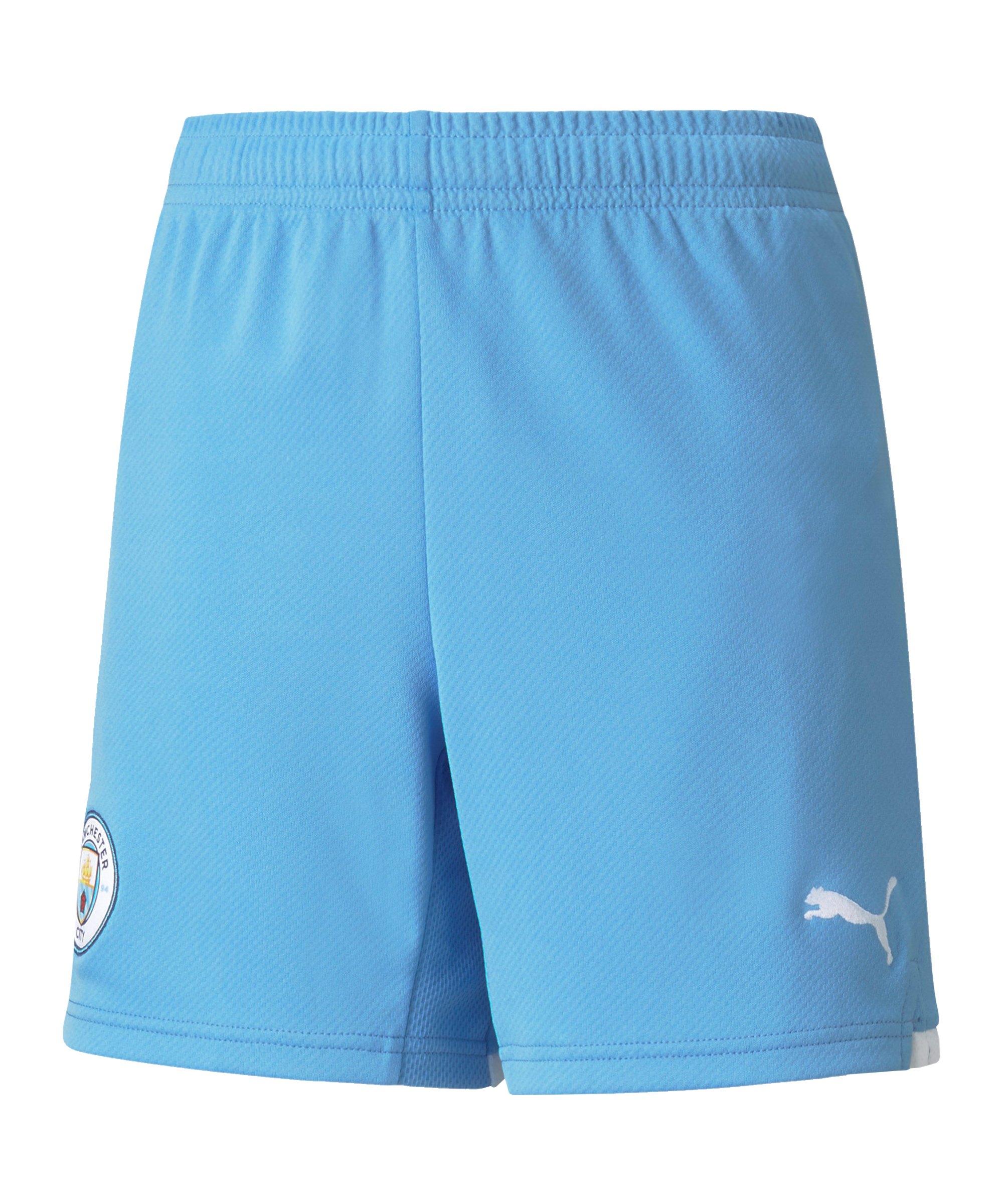 PUMA Manchester City Short Home 2021/2022 Kids Blau F01 - blau