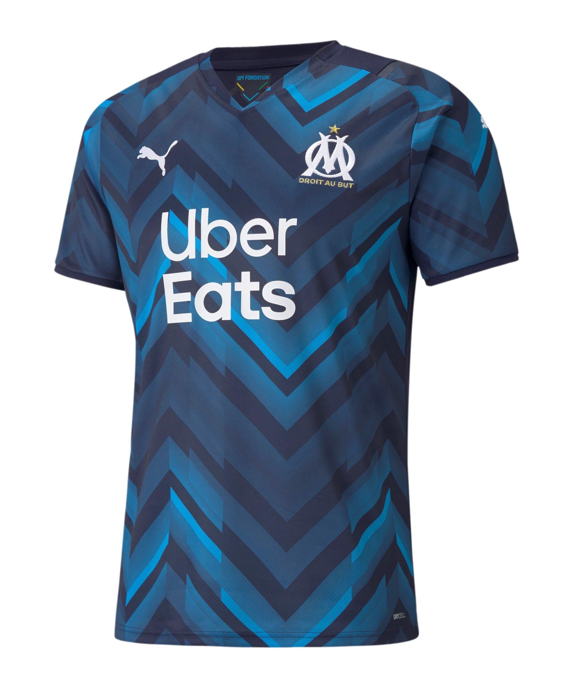 PUMA Olympique Marseille Trikot Away 2021/2022 Blau F02 - blau