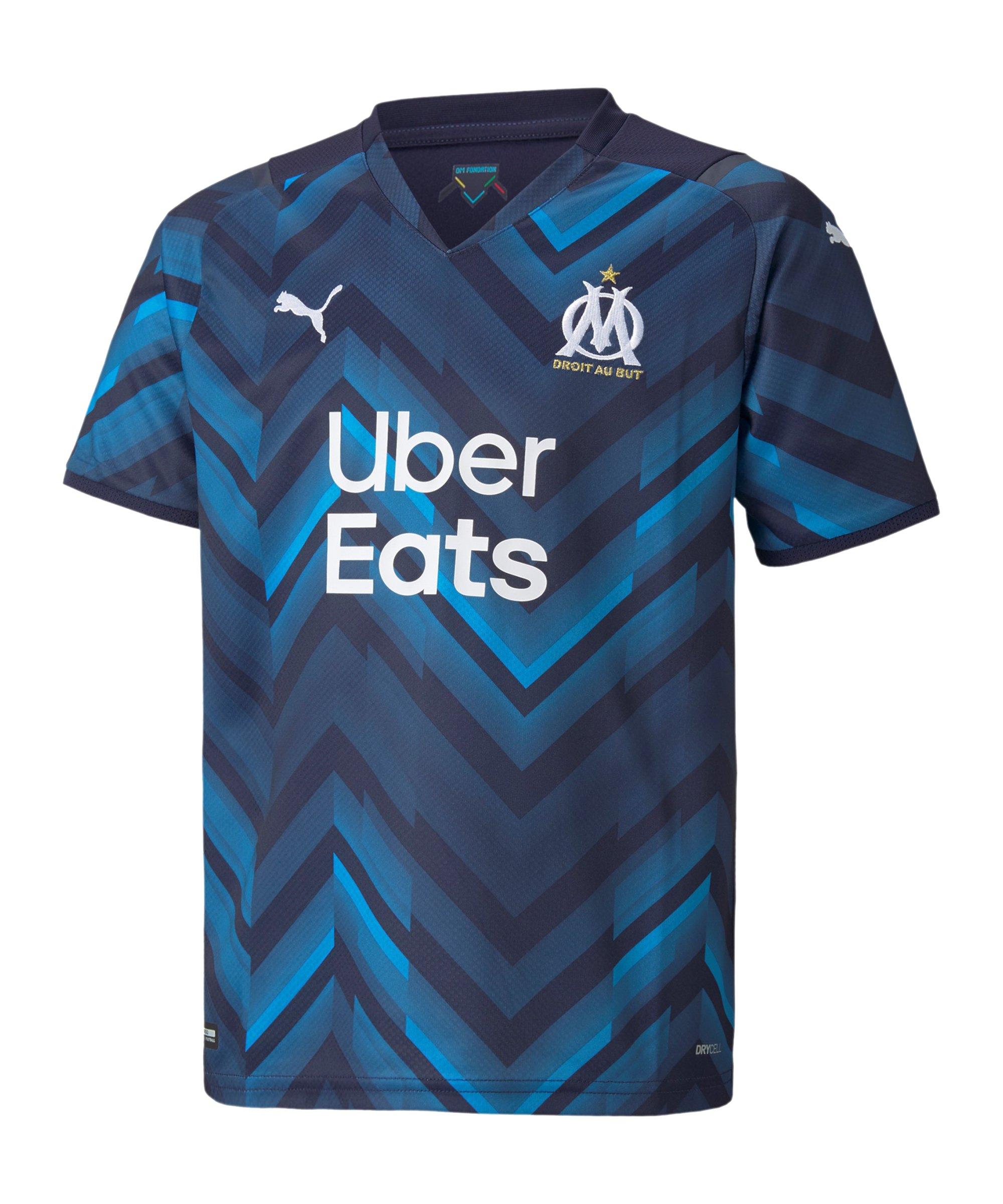 PUMA Olympique Marseille Trikot Away Kids 2021/2022 Blau F02 - blau