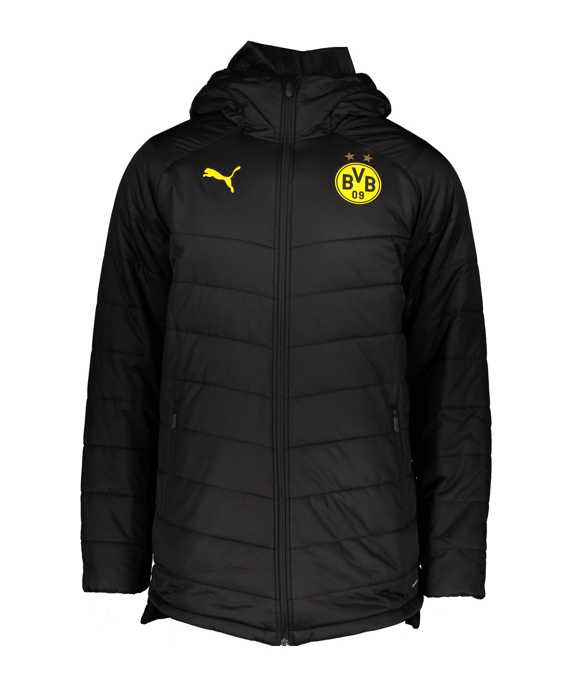 PUMA BVB Dortmund Stadionjacke Schwarz F02 - schwarz