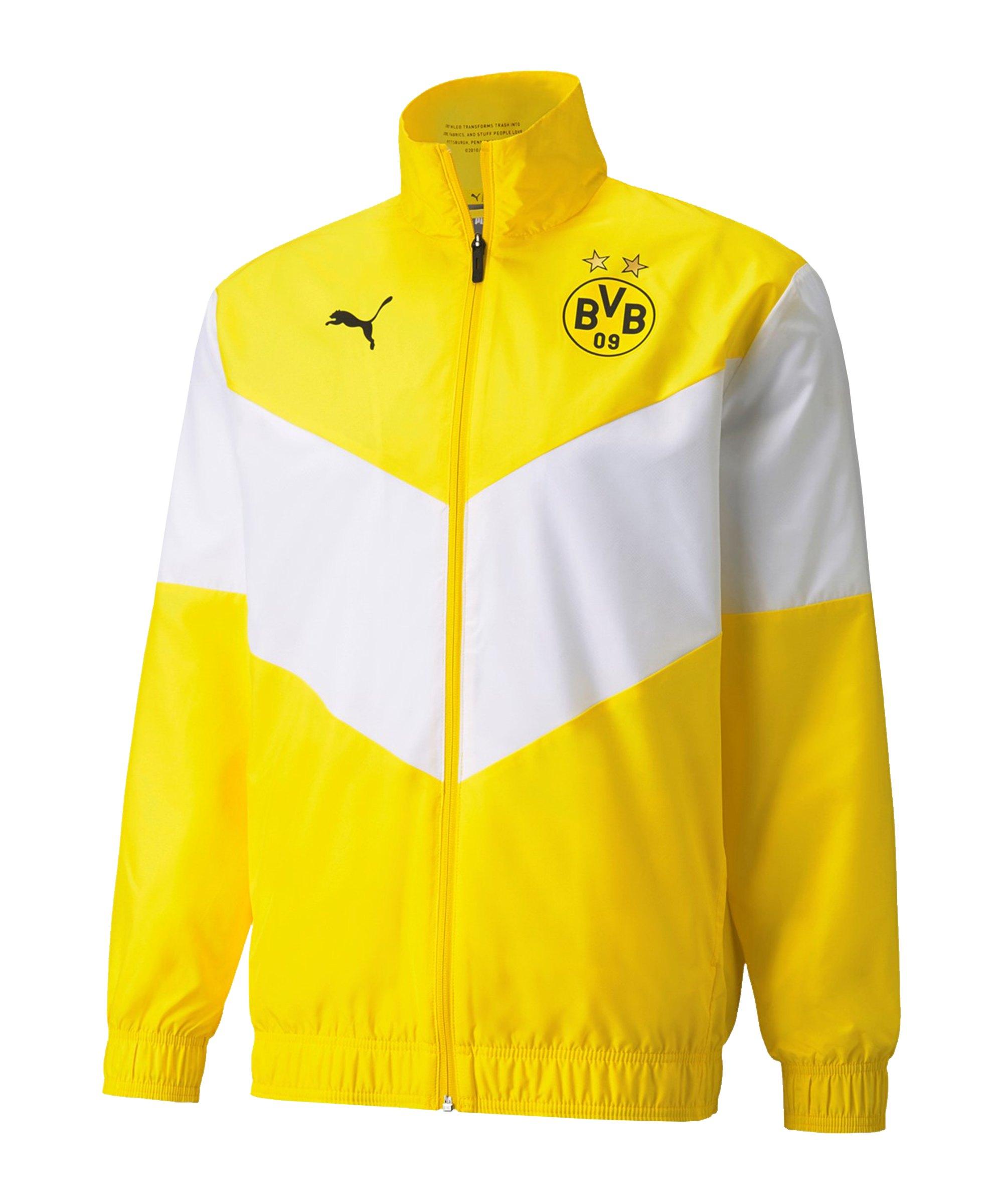 PUMA BVB Dortmund Prematch Jacke 2021/2022 F01 - gelb