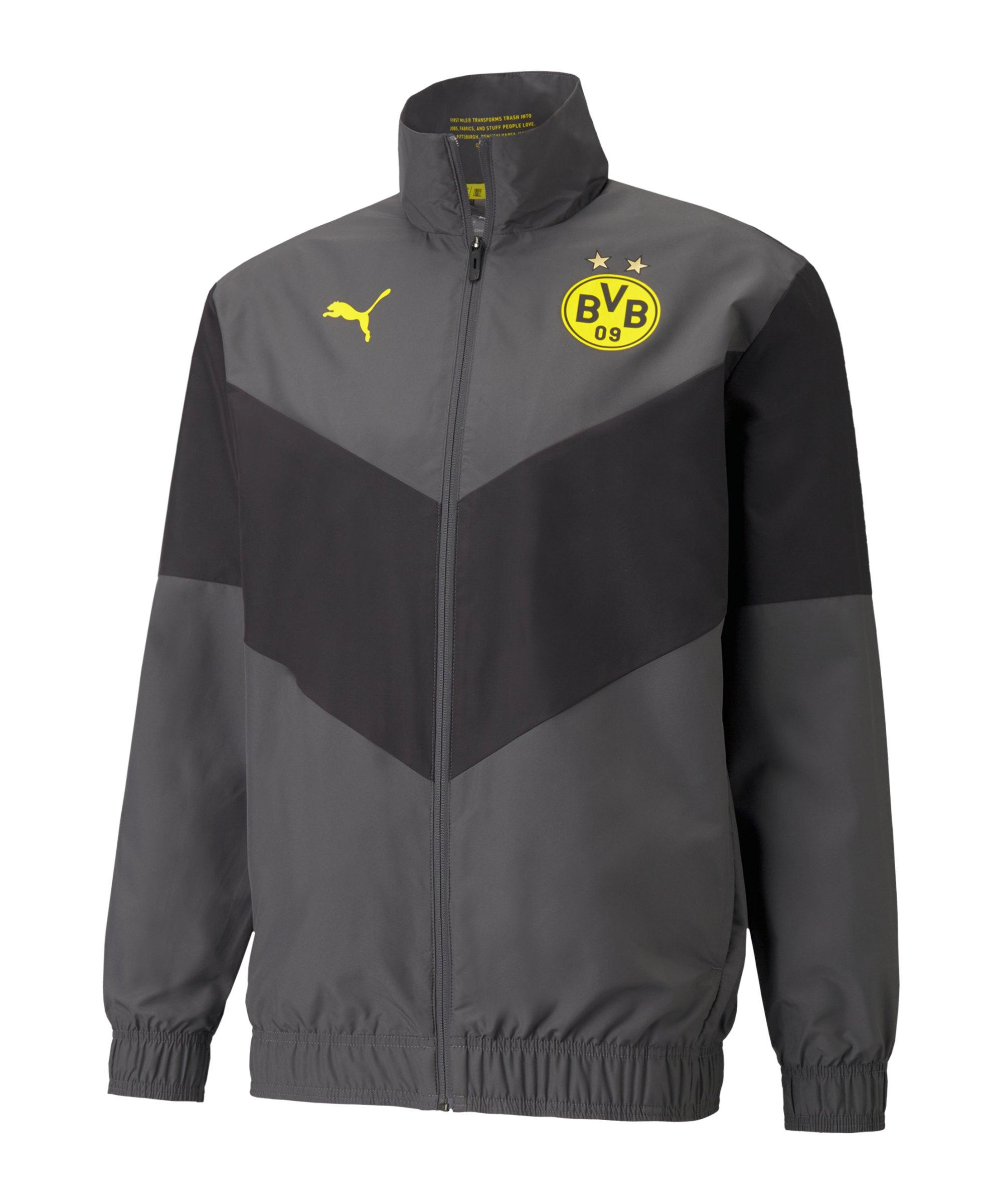 PUMA BVB Dortmund Prematch Jacke 2021/2022 F04 - grau