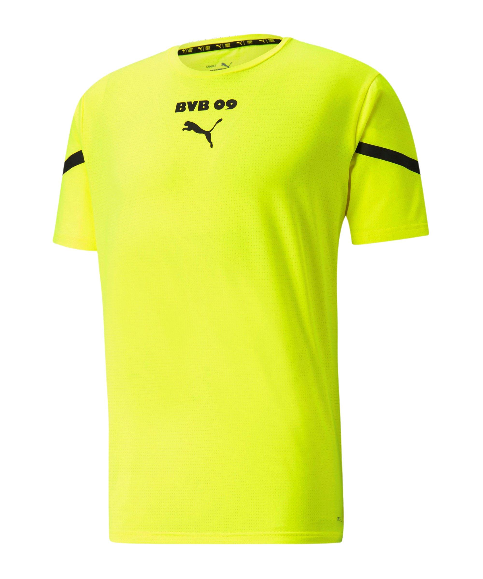 PUMA BVB Dortmund Prematch Shirt 2021/2022 Gelb Schwarz F03 - gelb