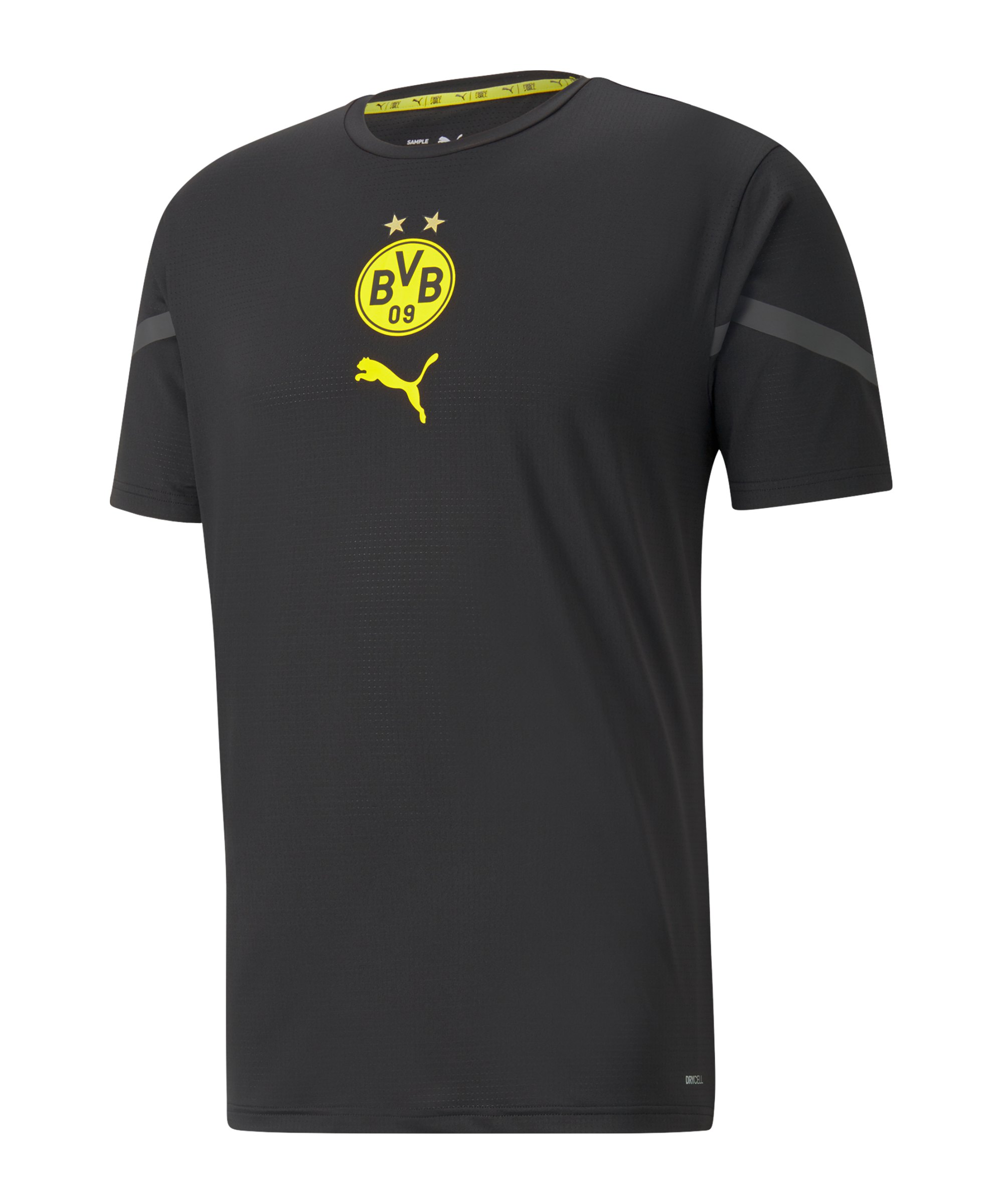 PUMA BVB Dortmund Prematch Shirt 2021/2022 Schwarz F02 - schwarz
