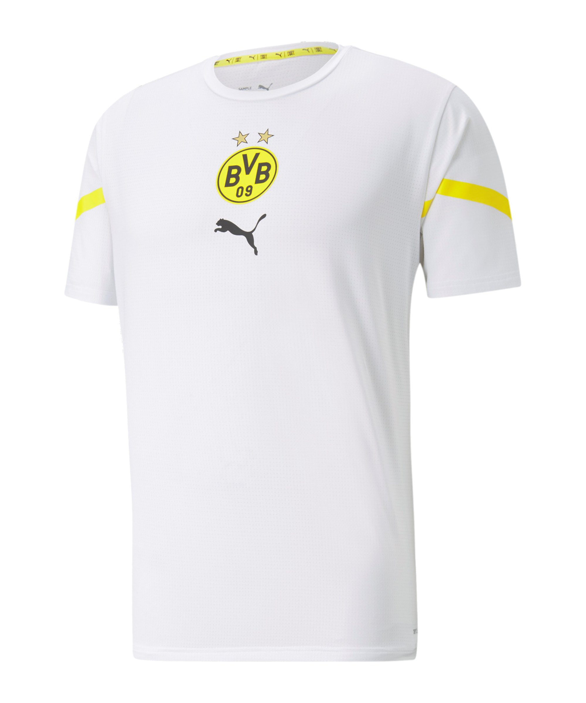 PUMA BVB Dortmund Prematch Shirt 2021/2022 Weiss Gelb F08 - weiss
