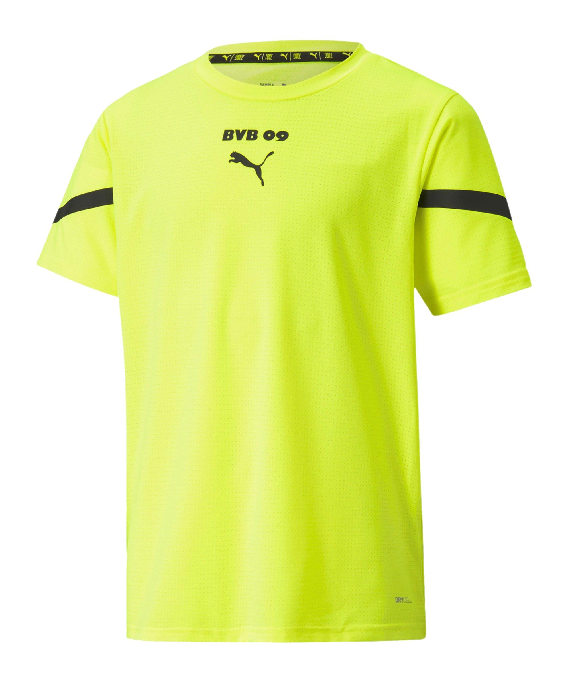 PUMA BVB Dortmund Prematch Shirt 2021/2022 Kids Gelb Schwarz F03 - gelb