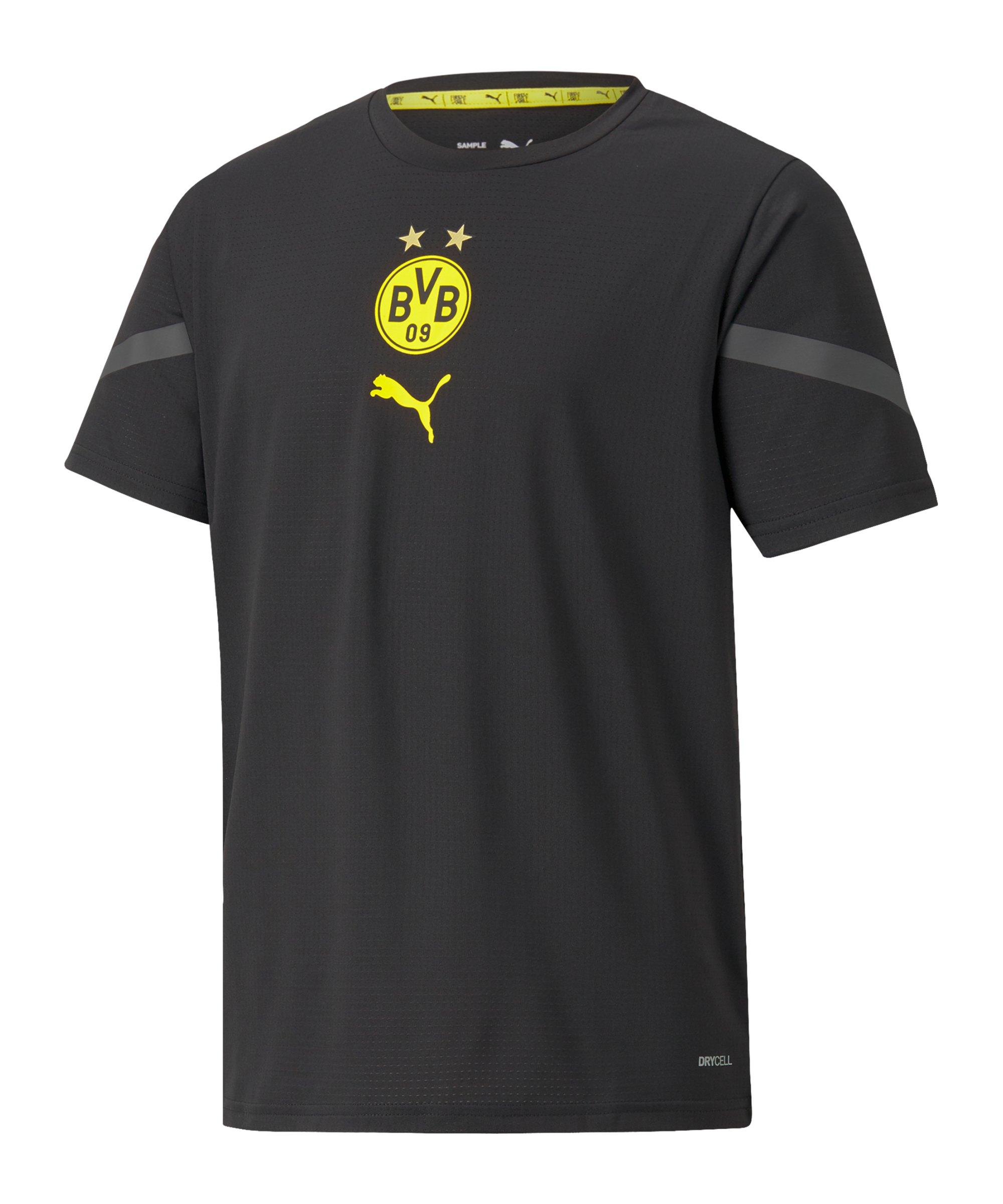 PUMA BVB Dortmund Prematch Shirt 2021/2022 Kids Schwarz F02 - schwarz