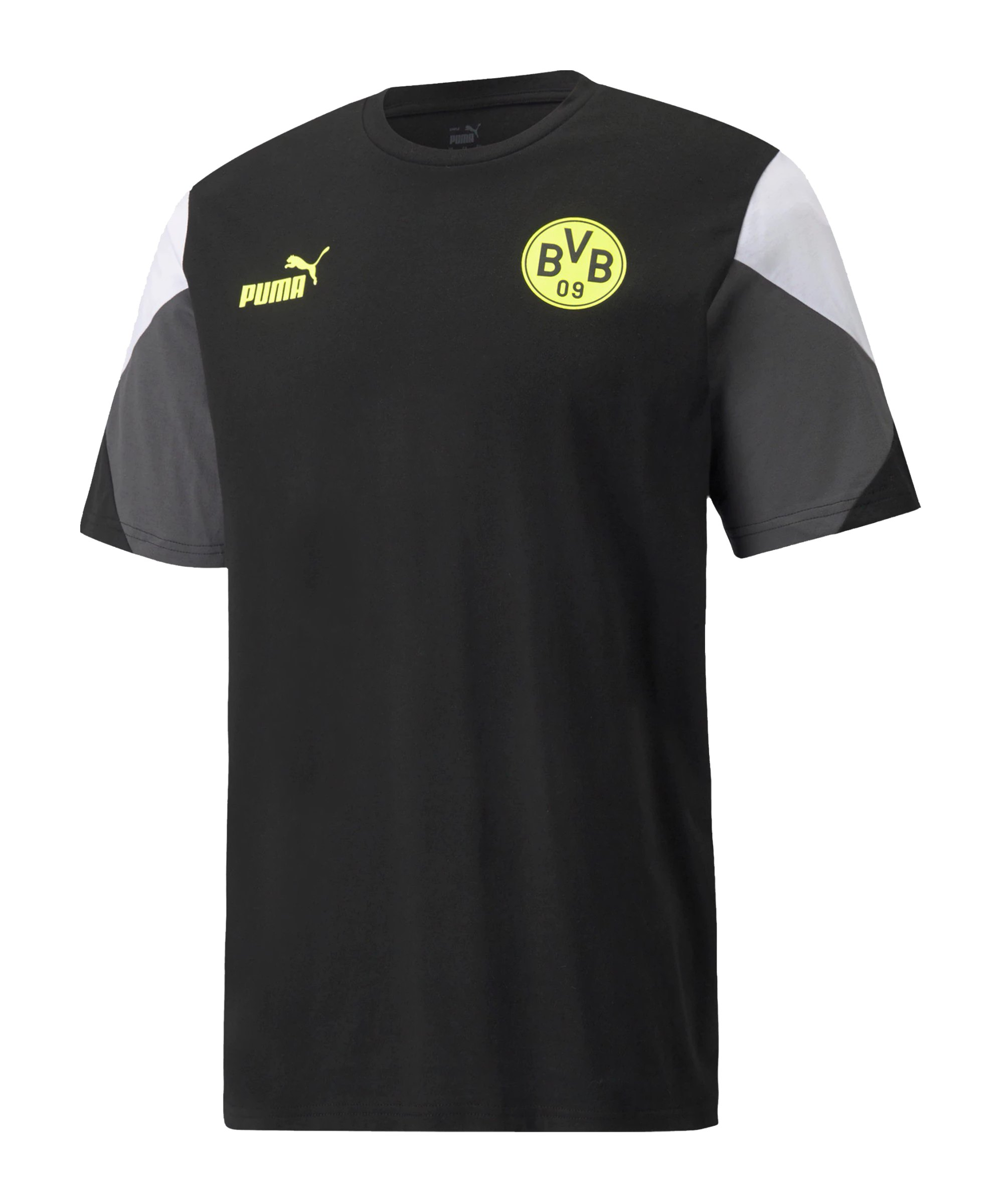 PUMA BVB Dortmund FtblCulture T-Shirt Schwarz F05 - schwarz