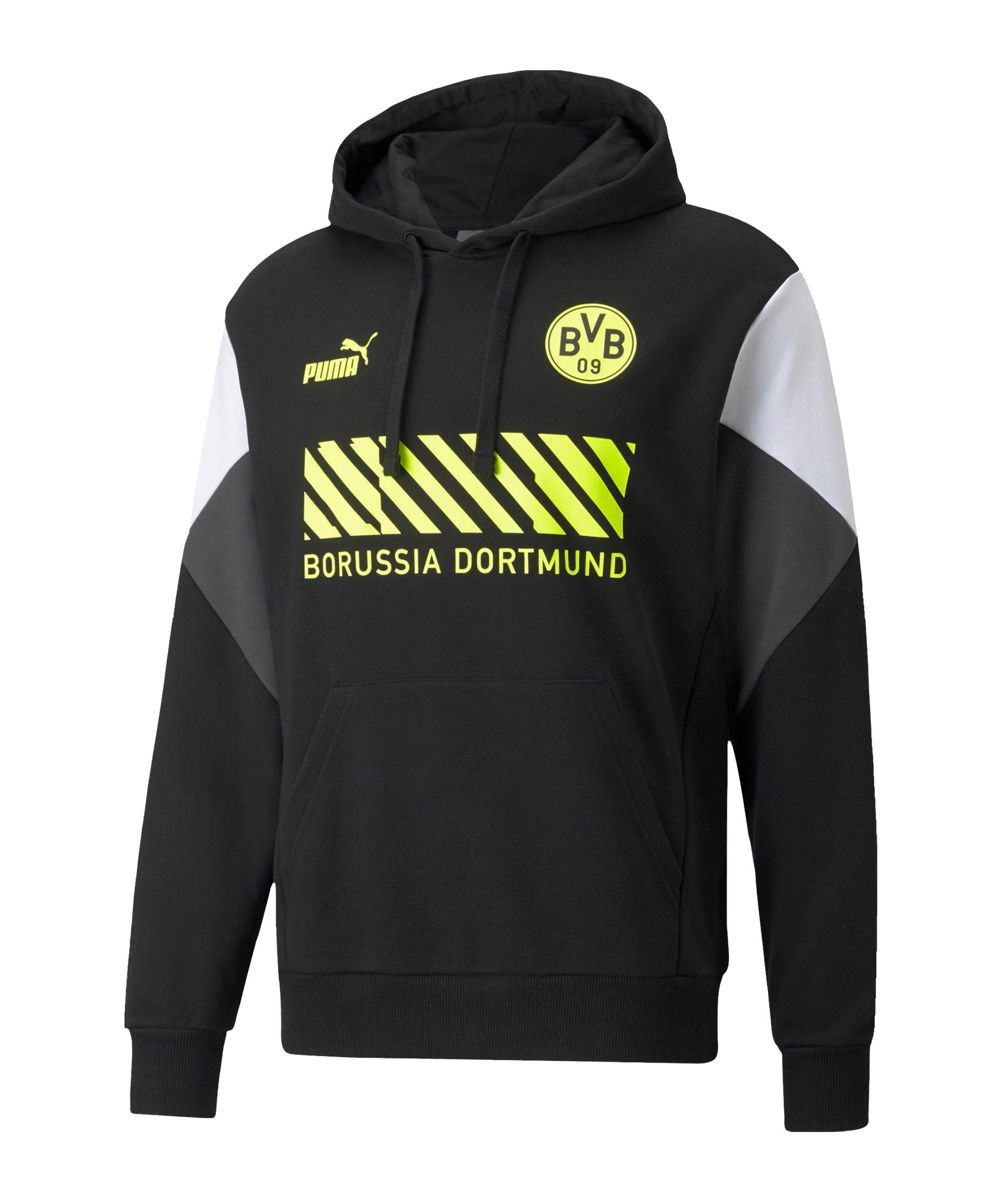 PUMA BVB Dortmund FtblCulture Hoody Schwarz F05 - schwarz