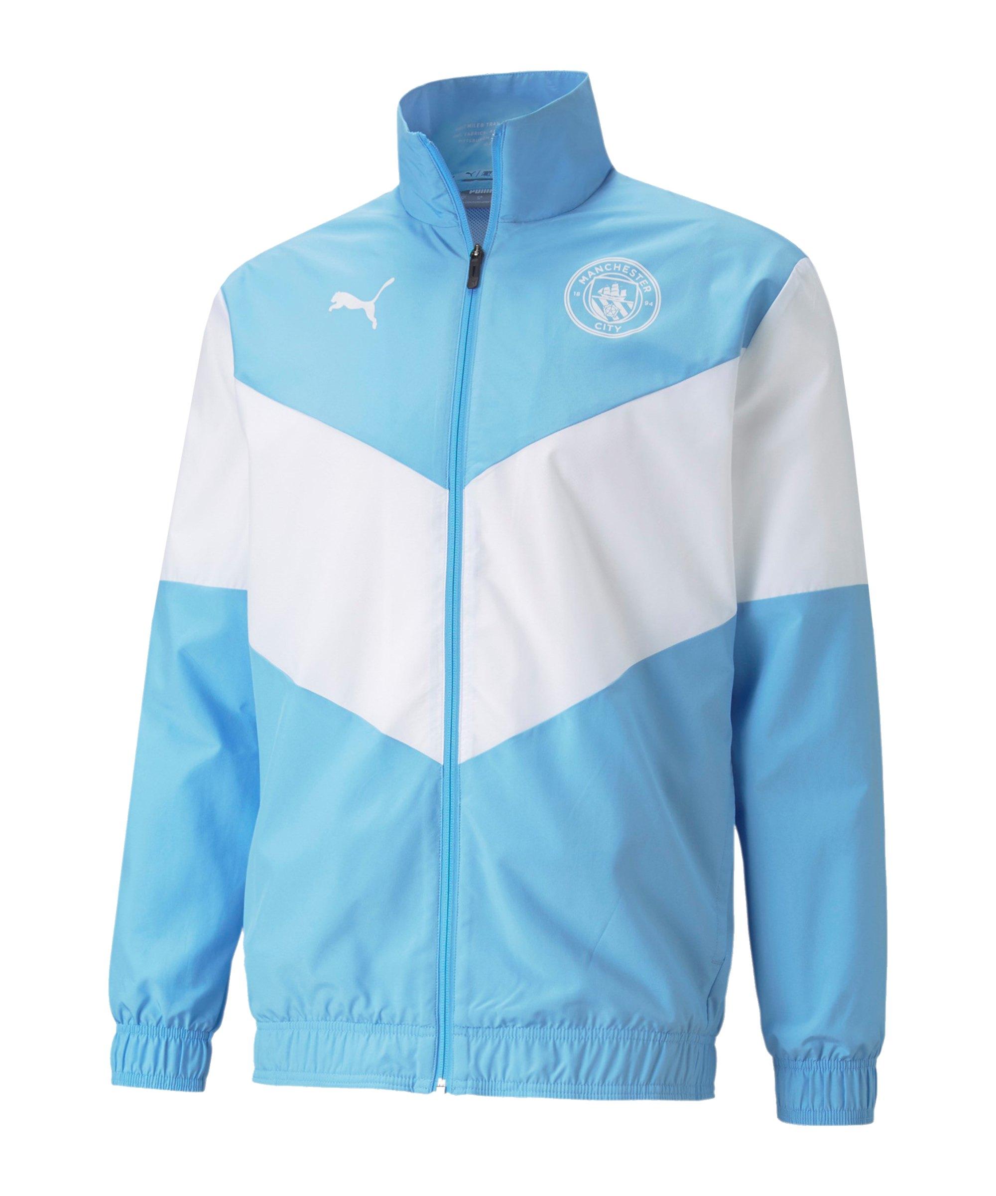 PUMA Manchester City Prematch Jacke 2021/2022 Blau F01 - blau