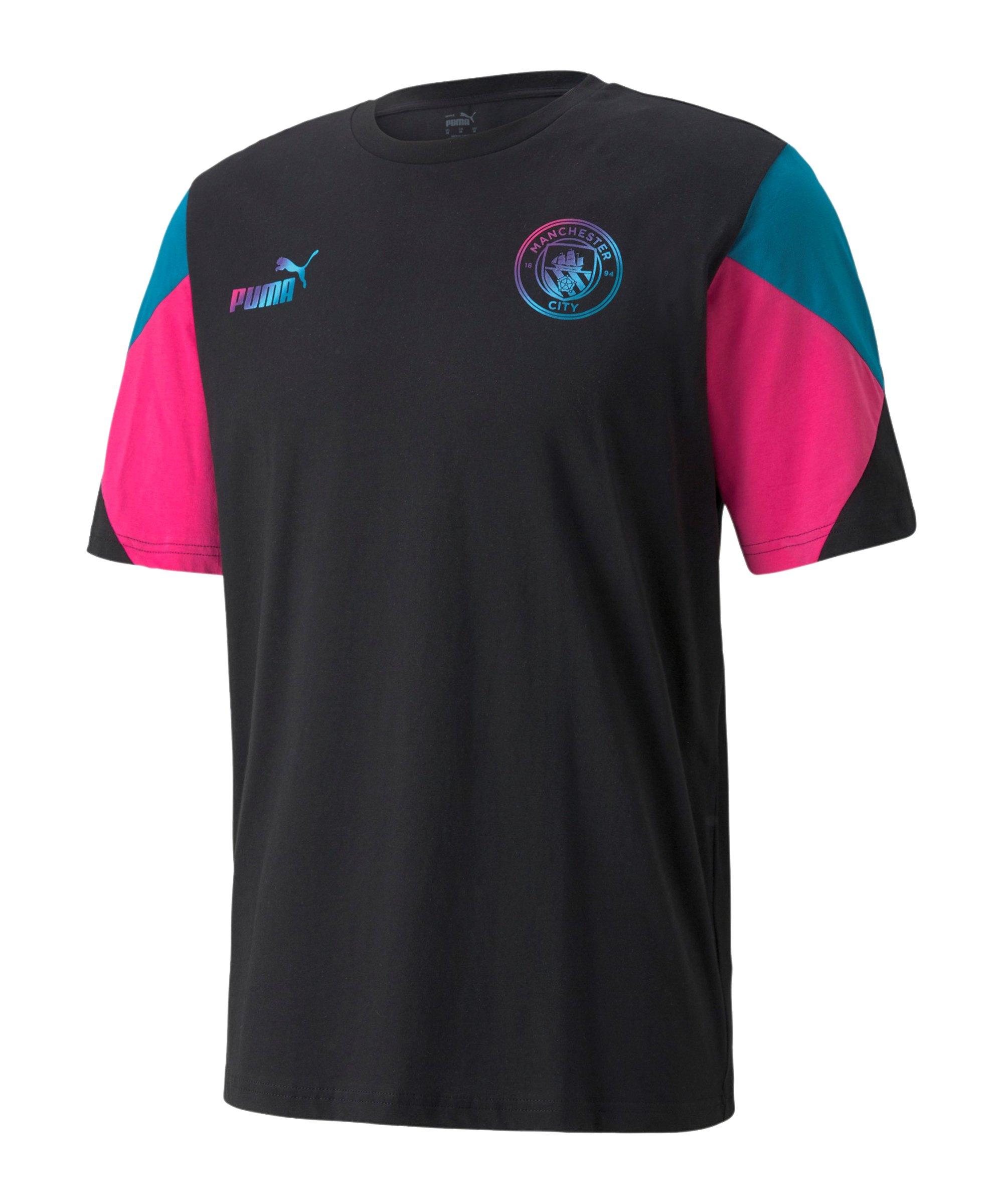 PUMA Manchester City FtblCulture T-Shirt Schwarz F12 - schwarz