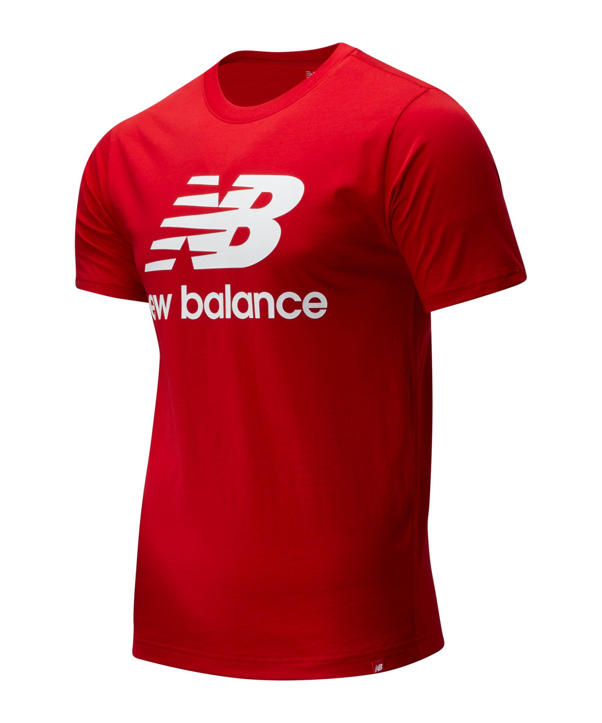 New Balance Essentials Stacked Logo T-Shirt F43 - rot