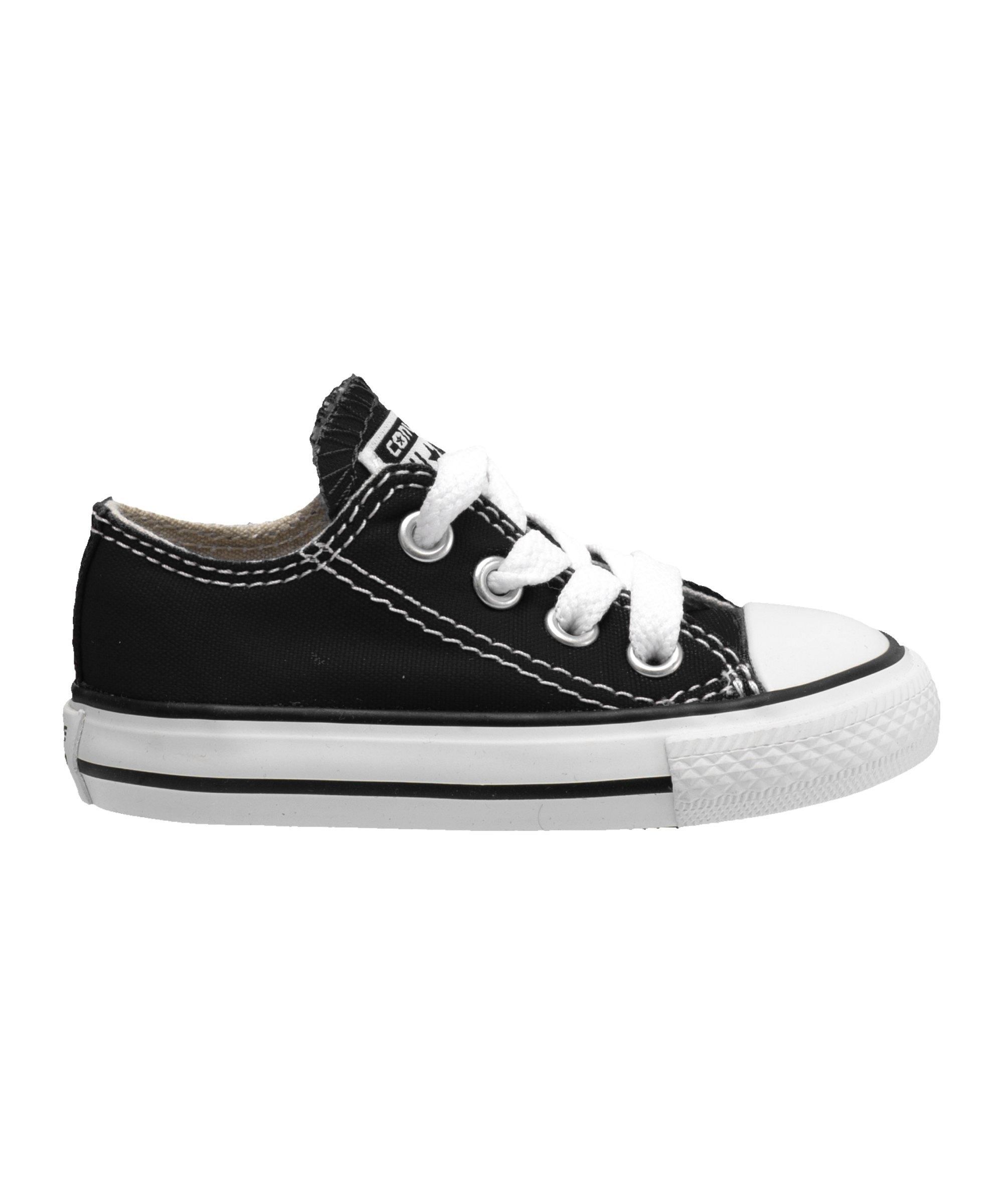 Converse Chuck Taylor AS OX Sneaker Kids Schwarz - Schwarz