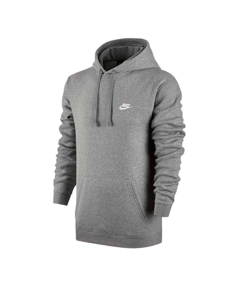 Nike Club Hoody Sweatshirt Grau F063 - grau