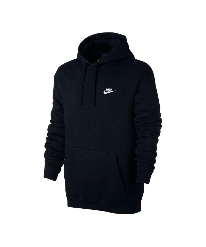 Nike Club Hoody Sweatshirt Schwarz F010 - schwarz