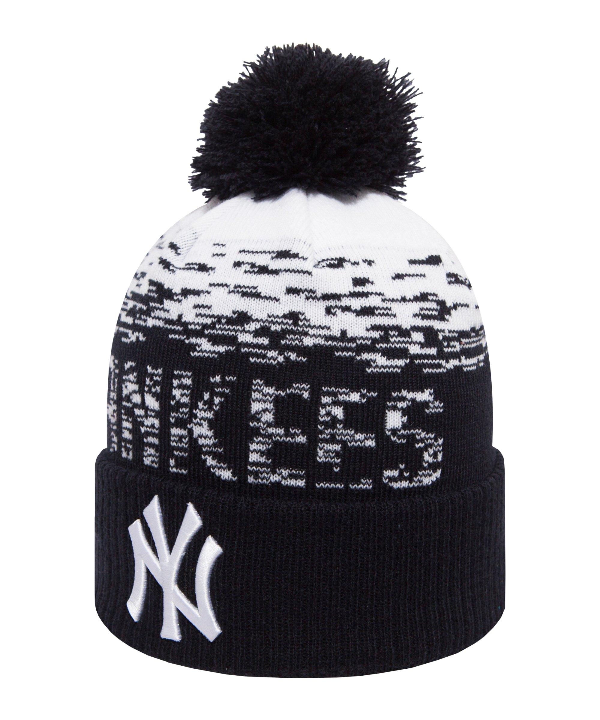 New Era NY Yankees Beanie Bommel Schwarz FOTC - schwarz