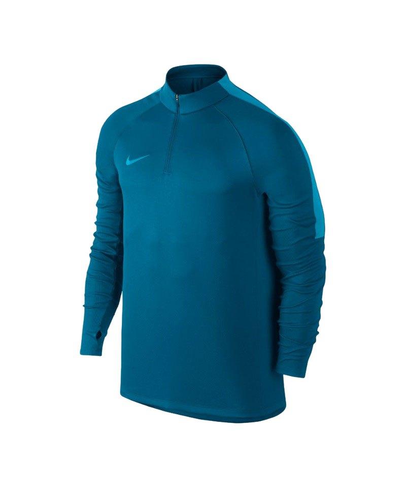 Nike Top 1/4 Zip Lonsleeve Football Drill F457 - blau