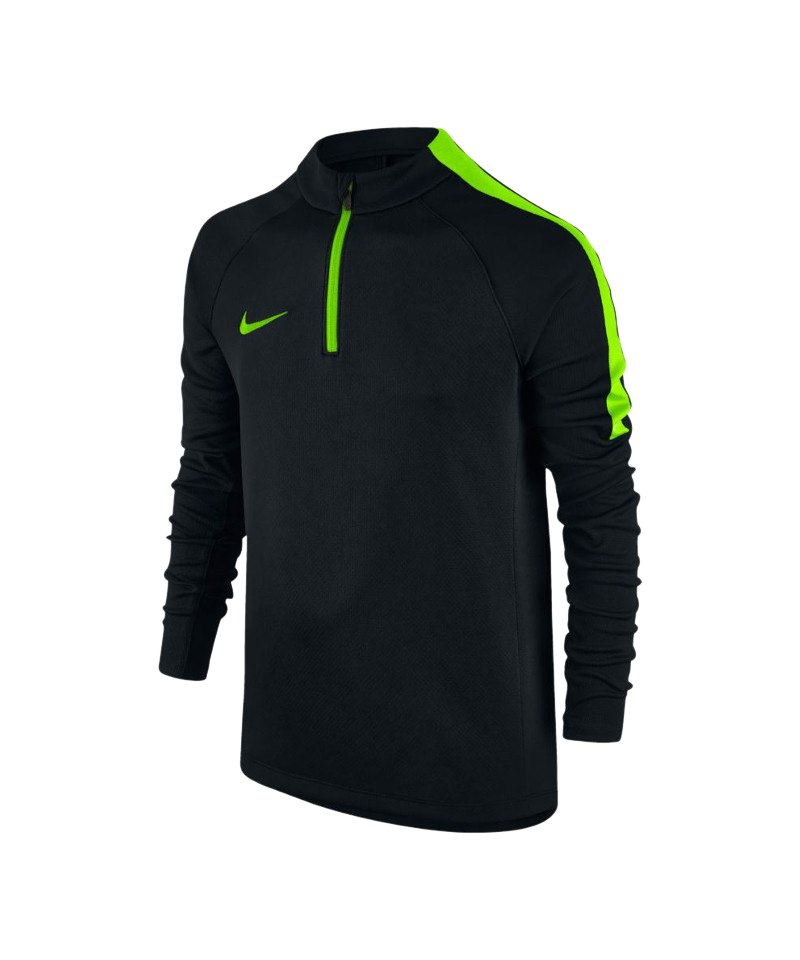 Nike 1/4 Zip Longsleeve Football Drill Kinder F013 - schwarz