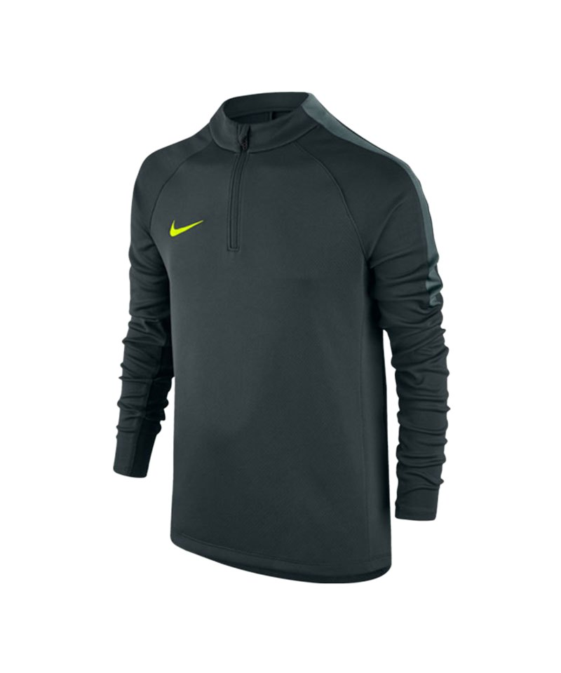 Nike 1/4 Zip Longsleeve Football Drill Kinder F364 - gruen