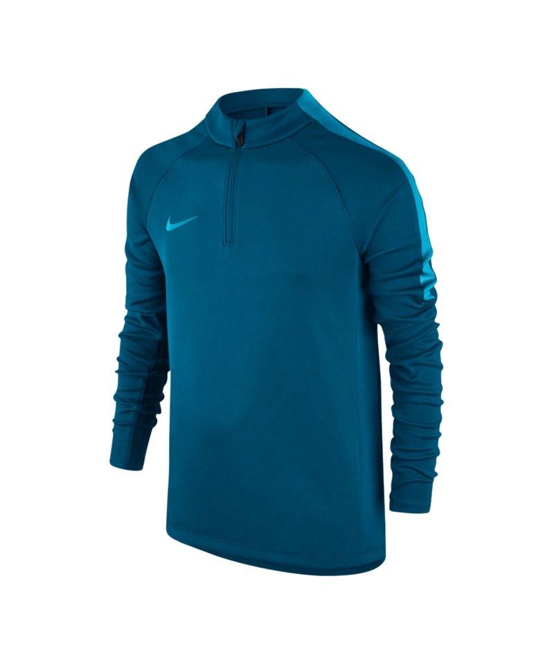 Nike 1/4 Zip Longsleeve Football Drill Kinder F457 - blau