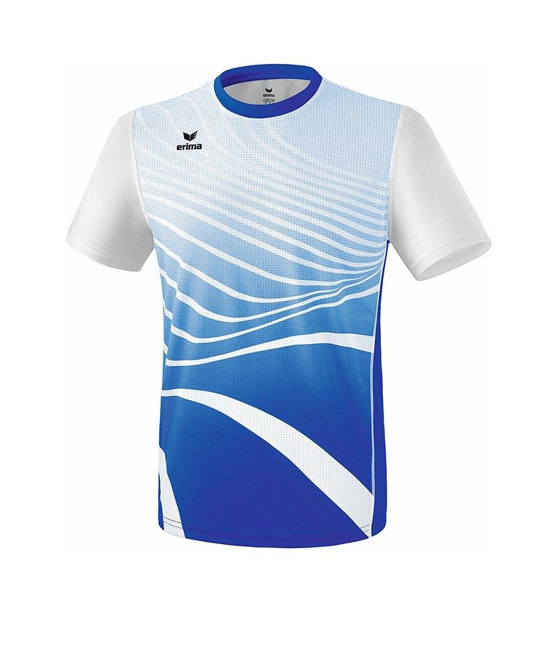 Erima T-Shirt Running Blau Weiss - blau